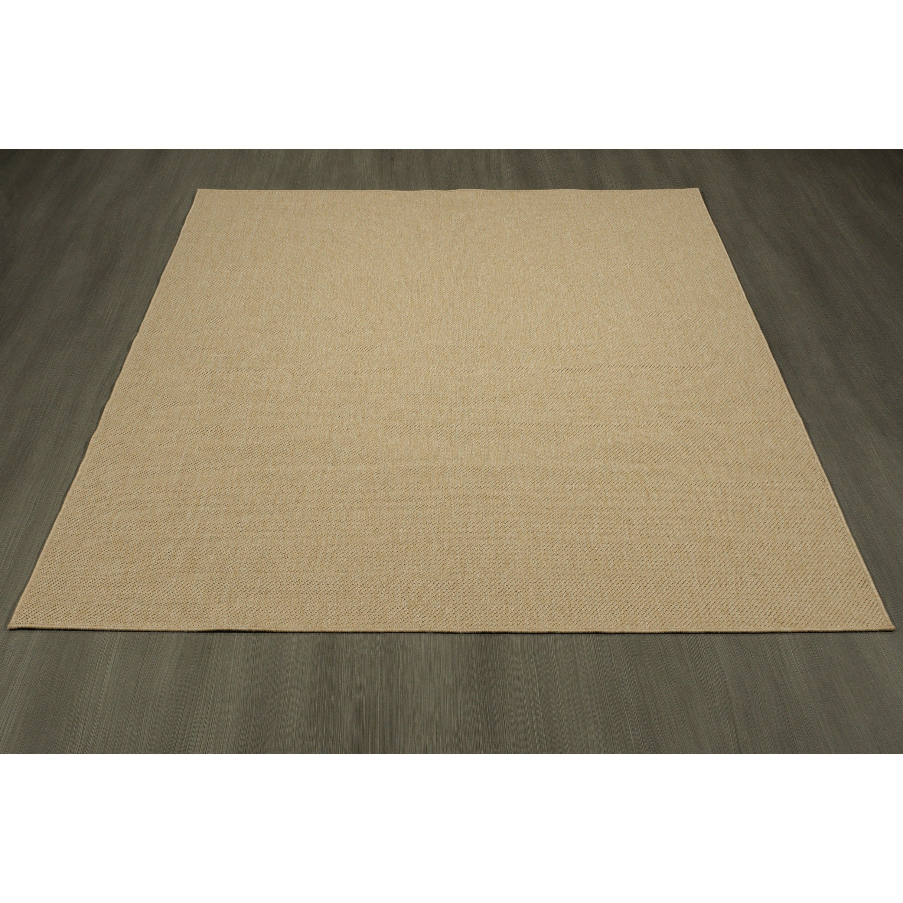 Shop ottomanson jardin collection natural solid design indoor outdoor jute backing area synthetic sisal rug 53 x 73 on sale free shipping today