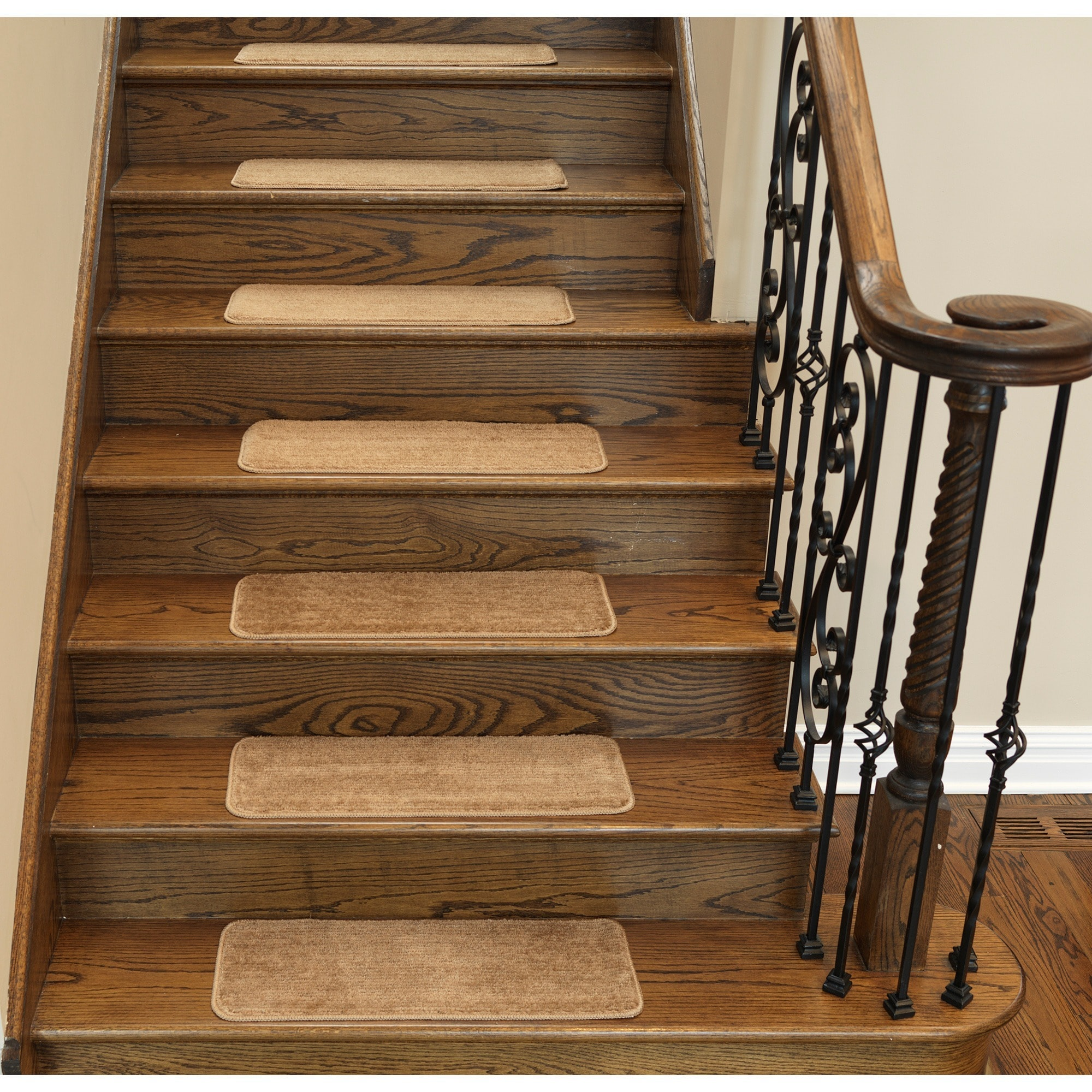 Ottomanson Softy Collection Contemporary Solid Design Stair Tread Rug (u00279 X  2u00272) (Set Of 13)   Free Shipping Today   Overstock   18437468