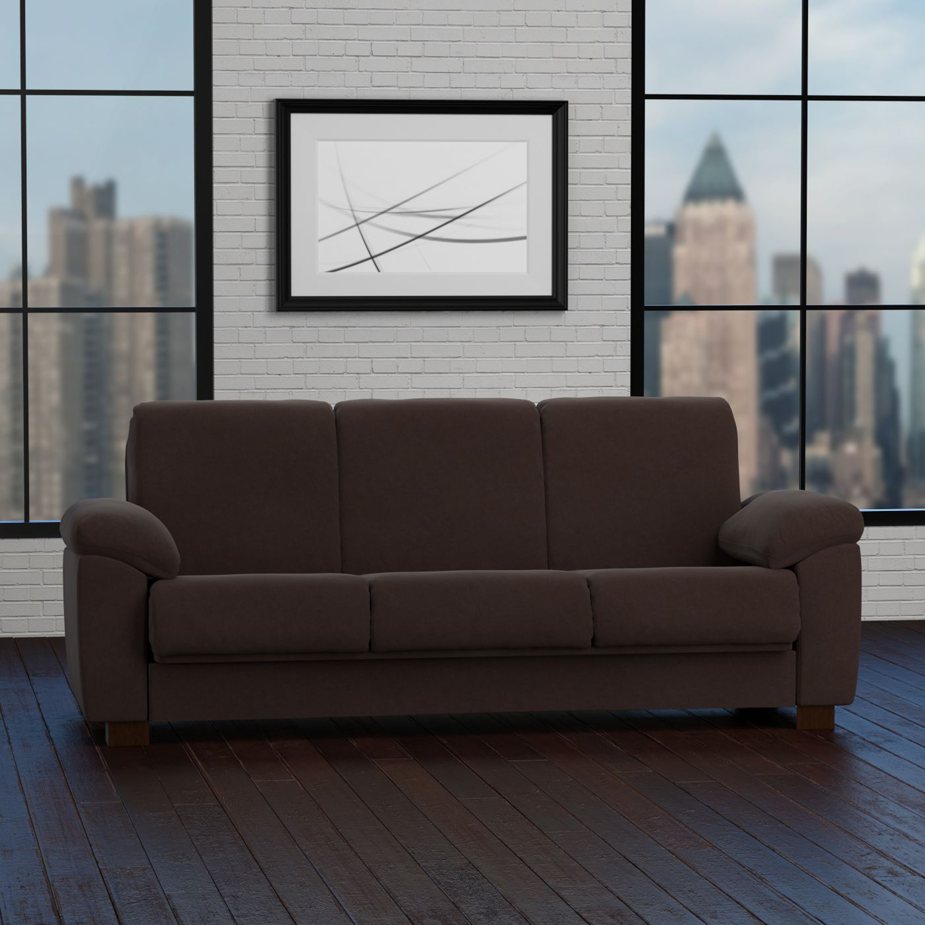 Handy Living Wrangler Convert A Couch Brown Pebbles Futon Sleeper Sofa On Free Shipping Today 11483070
