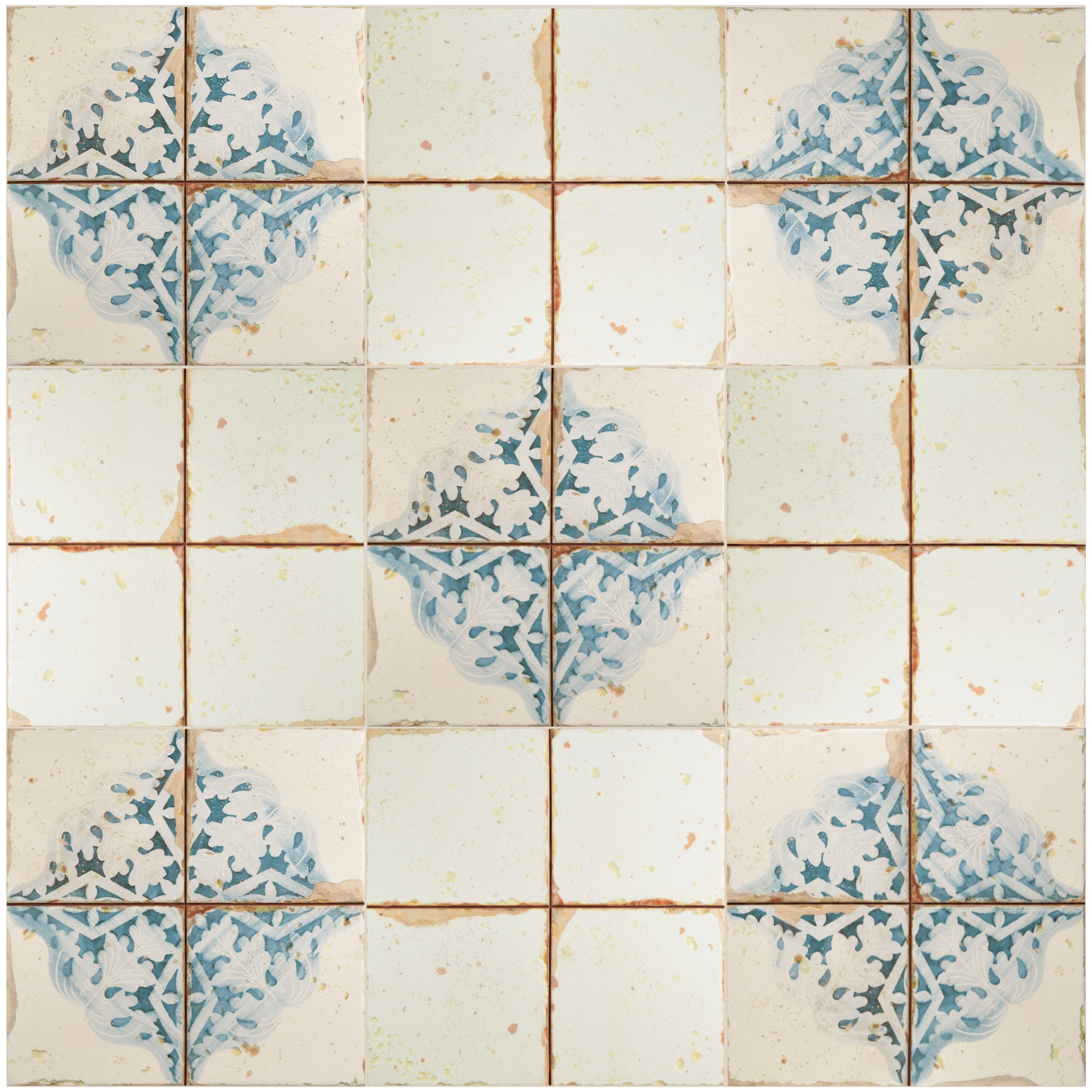 Shop Somertile 13x13 Inch Artesano Azul Decor Ceramic Floor And Wall