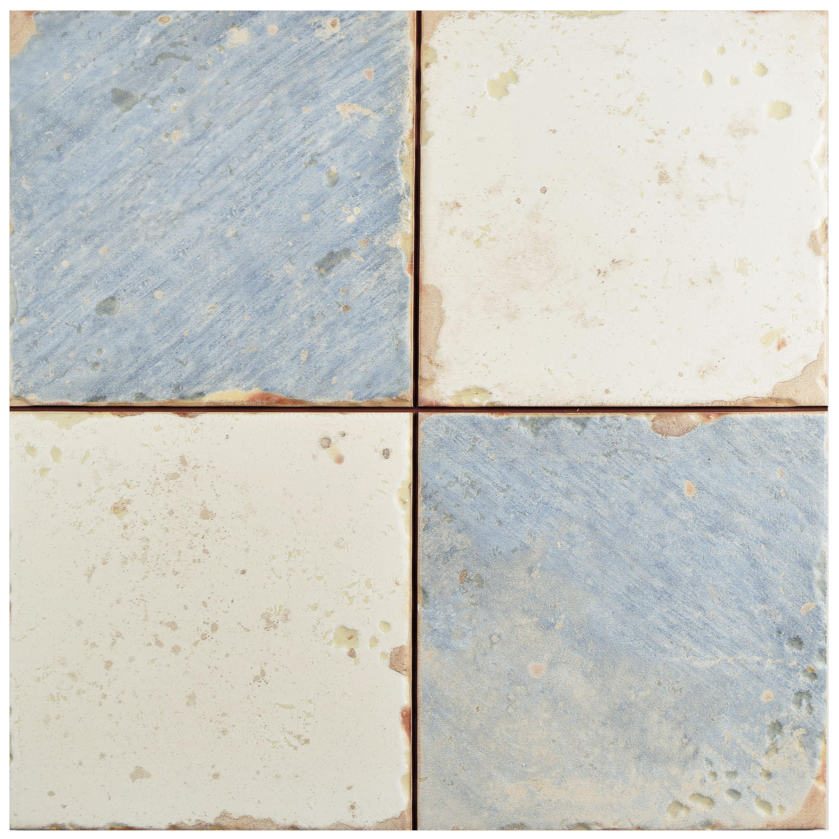 Shop SomerTile 13x13-inch Artesano Damero Azul Ceramic Floor and ...