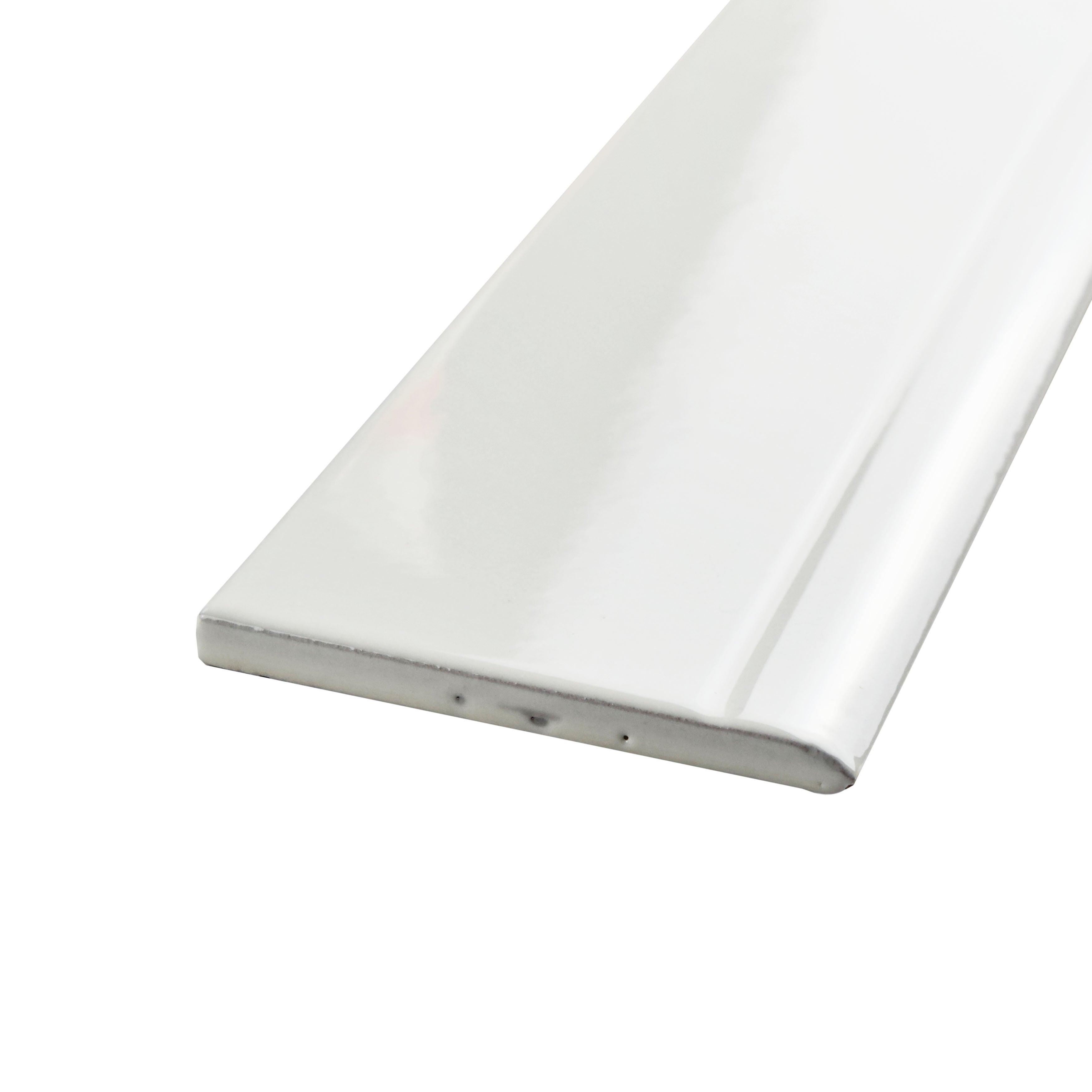 Somertile 3 25x12 375 Inch Zocalo Glossy White Ceramic Base Trim Molding 25 Tiles Free Shipping Today 11483297