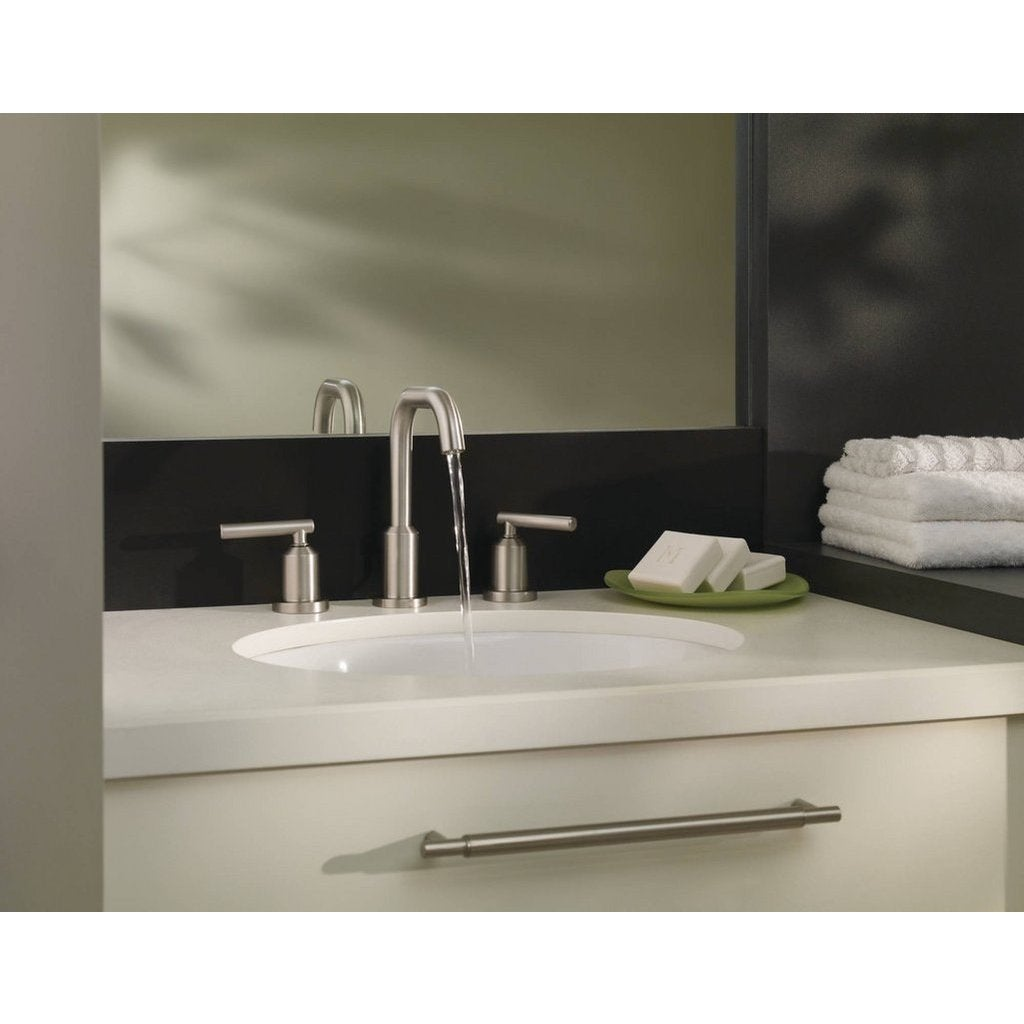 Shop Moen Gibson Widespread Bathroom Faucet 84229SRN Spot Resist ...