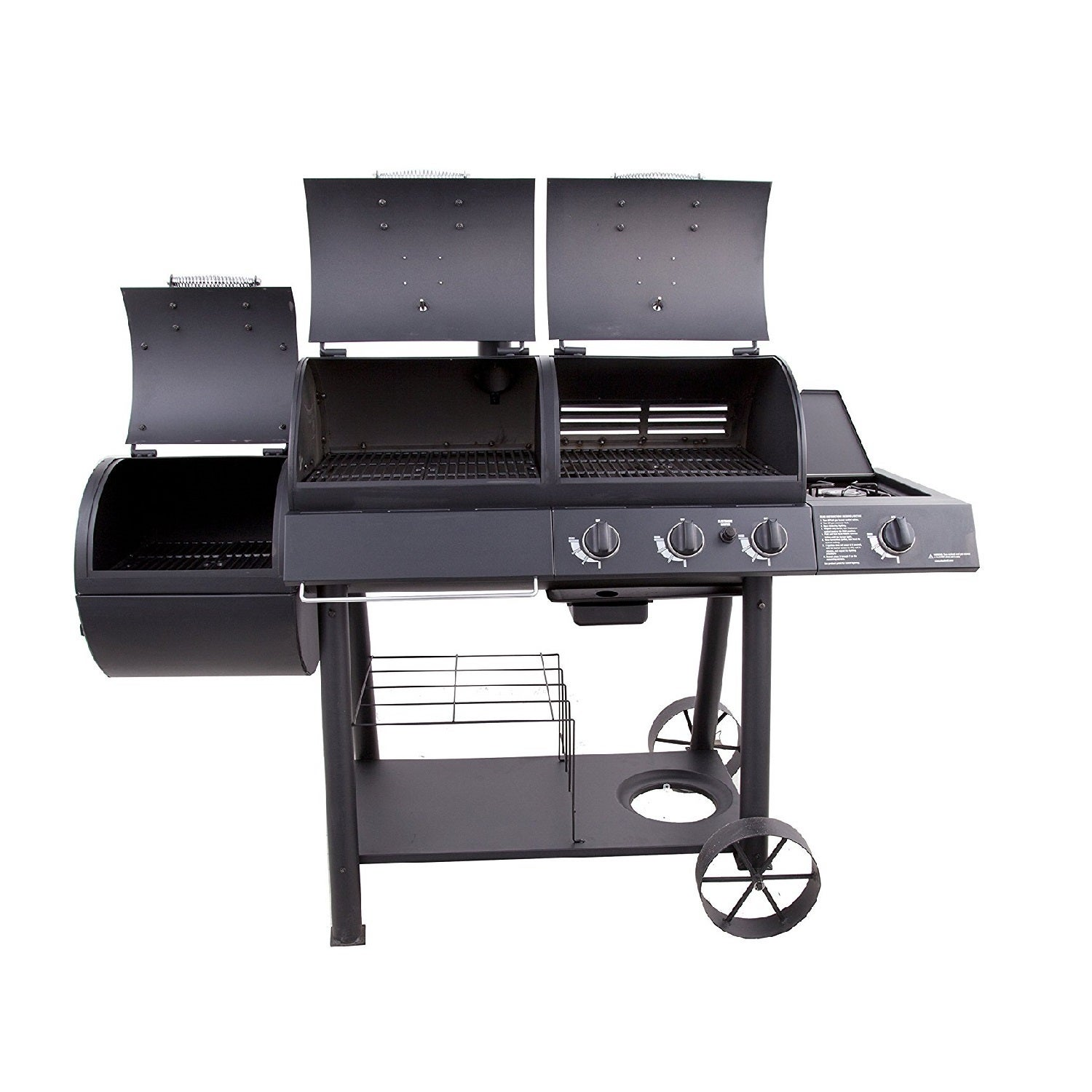 Oklahoma Joe S Charcoal And Gas Grill Smoker Combo Free Shipping Today 11484935
