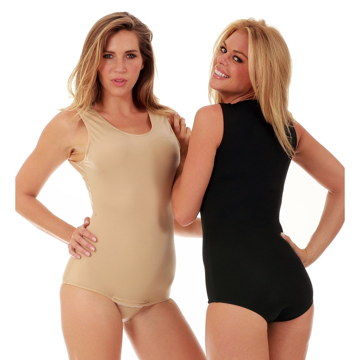 5ddea54472c14 Shop Instantfigure Shapewear Tank Bodysuit with Snap Crotch - Ships To  Canada - Overstock - 11485705