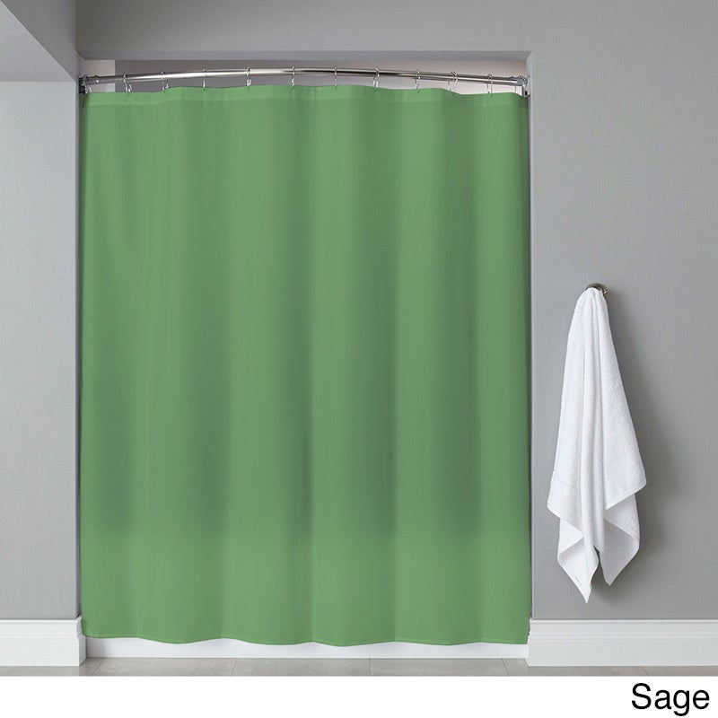 Extra Long Heavyweight Mildew-Resistant Vinyl Shower Curtain Liner ...