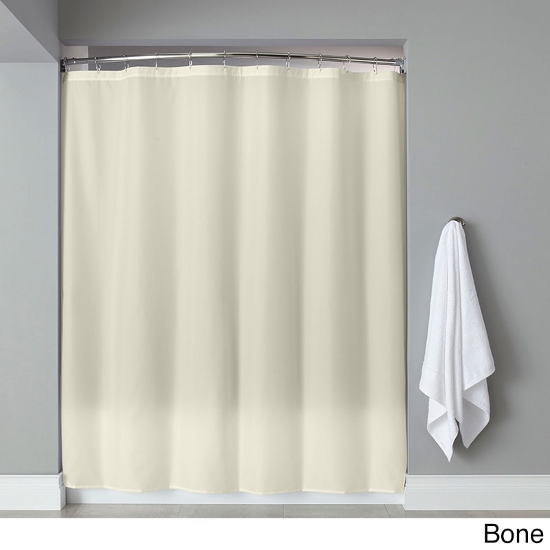 Shop Extra Long Heavyweight Mildew-Resistant Vinyl Shower Curtain ...