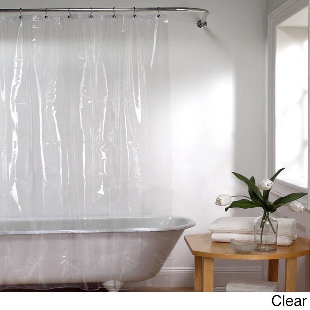 72 Inch Mildew Resistant 10 Gauge Vinyl Shower Curtain Liner