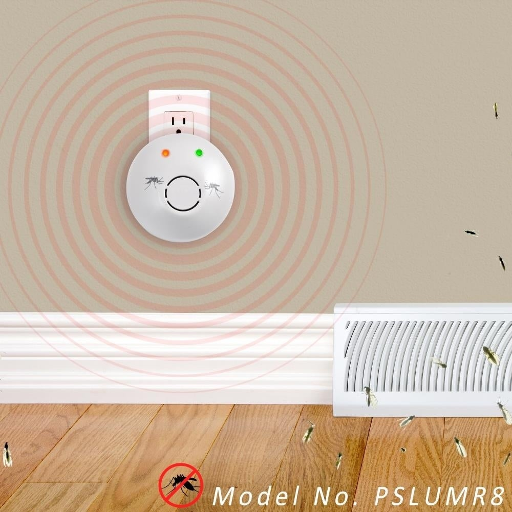 Shop Serenelife Pslumr8 Plug In Mosquito Repeller Electronic Insect Pest Control White Free Shipping On Orders Over 45 11487655