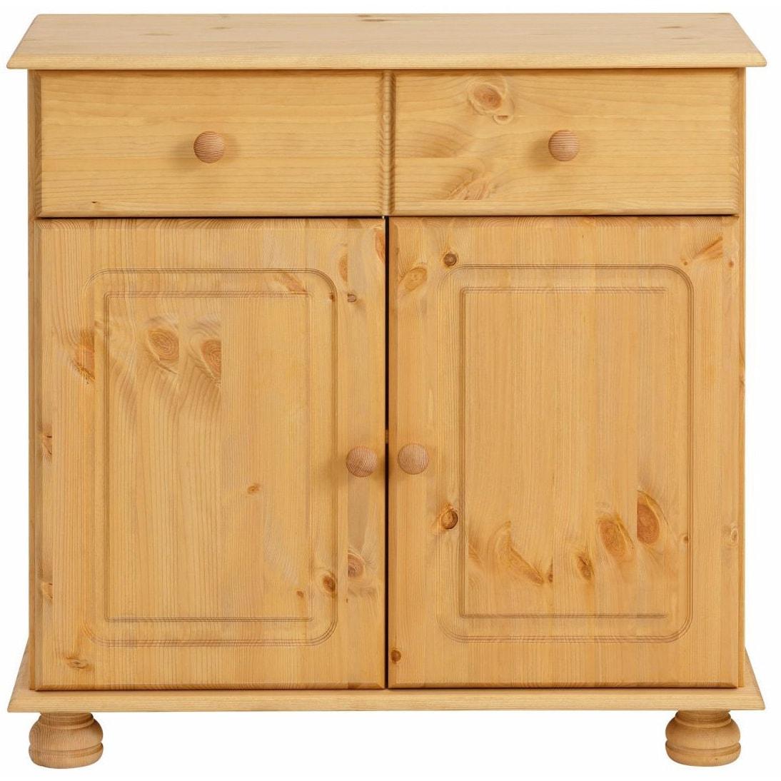 Mette Solid Pine 2 Door, 1 Drawer Sideboard   Free Shipping Today    Overstock.com   18442504