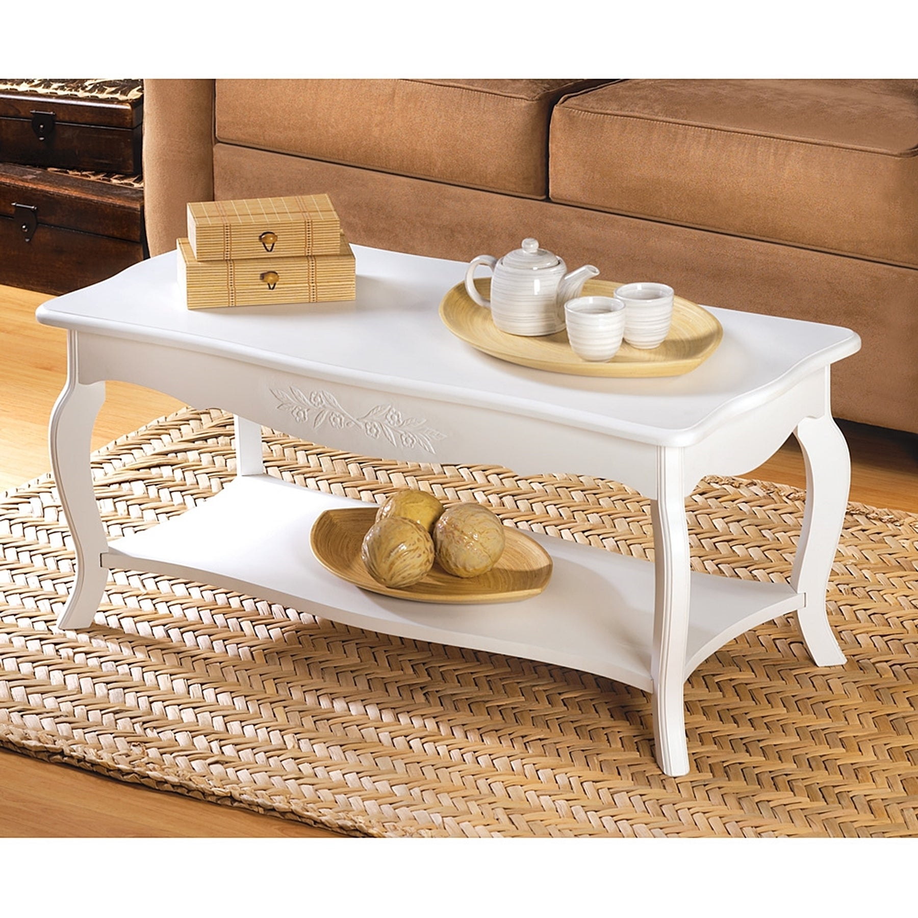 Hartford Country Stlye White Coffee Table Free Shipping Today 11489045