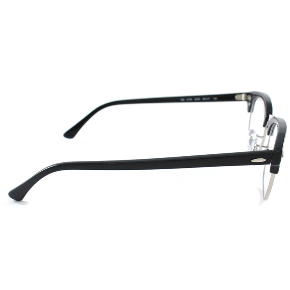 2cd1bf650b8 Shop Ray-Ban RX 5154 2000 Shiny Black And Silver Clubmaster Plastic 49mm  Eyeglasses - Free Shipping Today - Overstock - 11489596