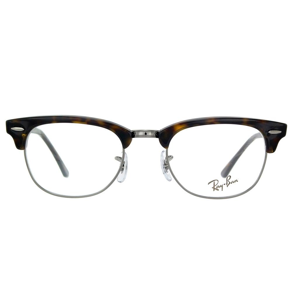 d01bc76c81f Shop Ray-Ban Clubmaster RX 5154 2012 Dark Havana And Gunmetal Clubmaster  Plastic 49mm Eyeglasses - Free Shipping Today - Overstock - 11489598