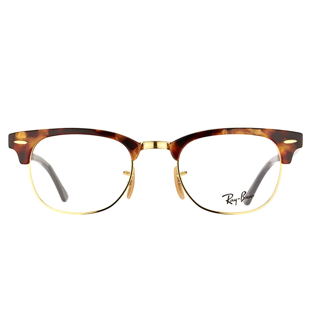 5c2de16ffe4 Shop Ray-Ban Clubmaster RX 5154 5494 Brown Havana And Gold Clubmaster  Plastic 49mm Eyeglasses - Free Shipping Today - Overstock - 11489665