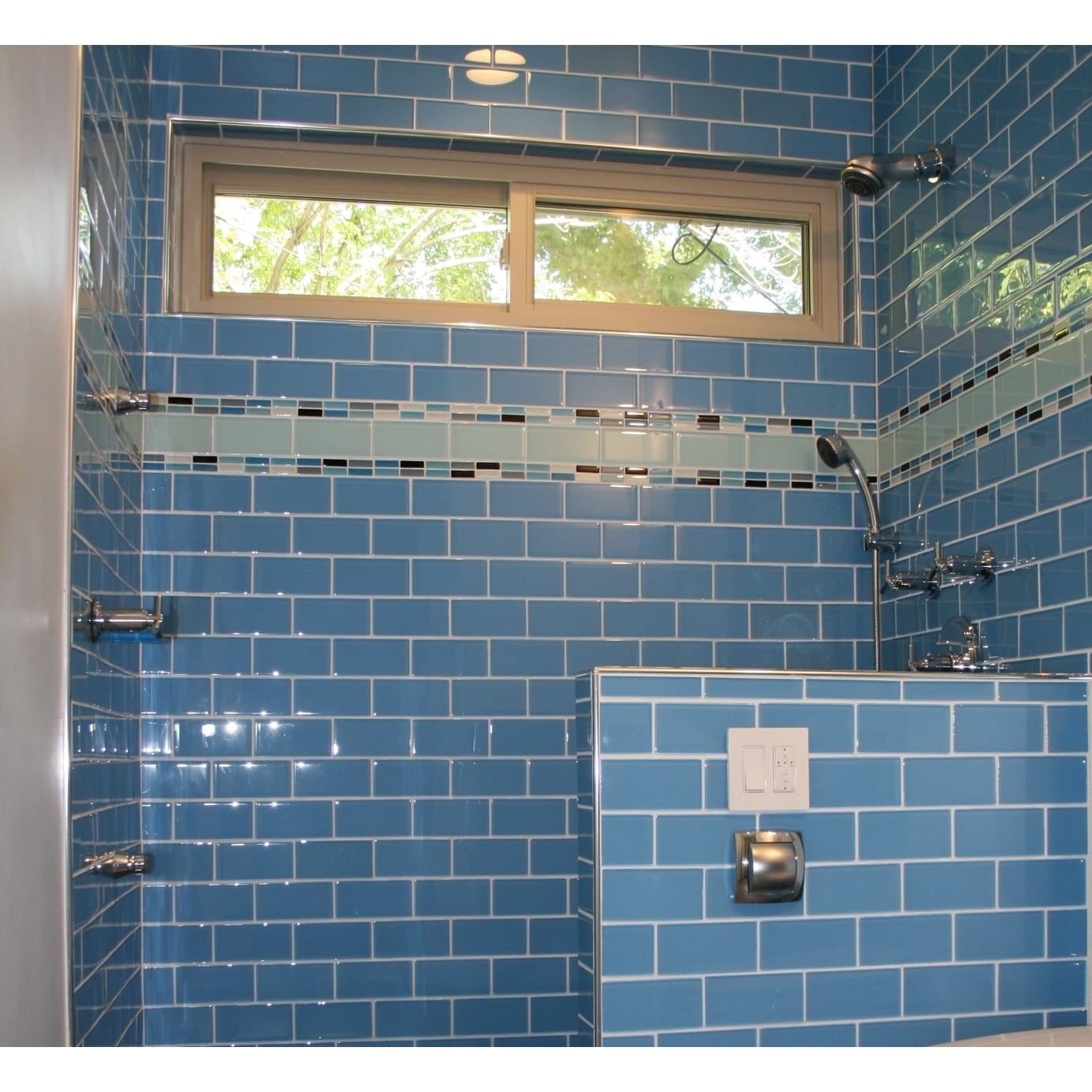 Shop Lush Periwinkle Blue 3x6 Lush Glass Subway Tile - Free Shipping ...