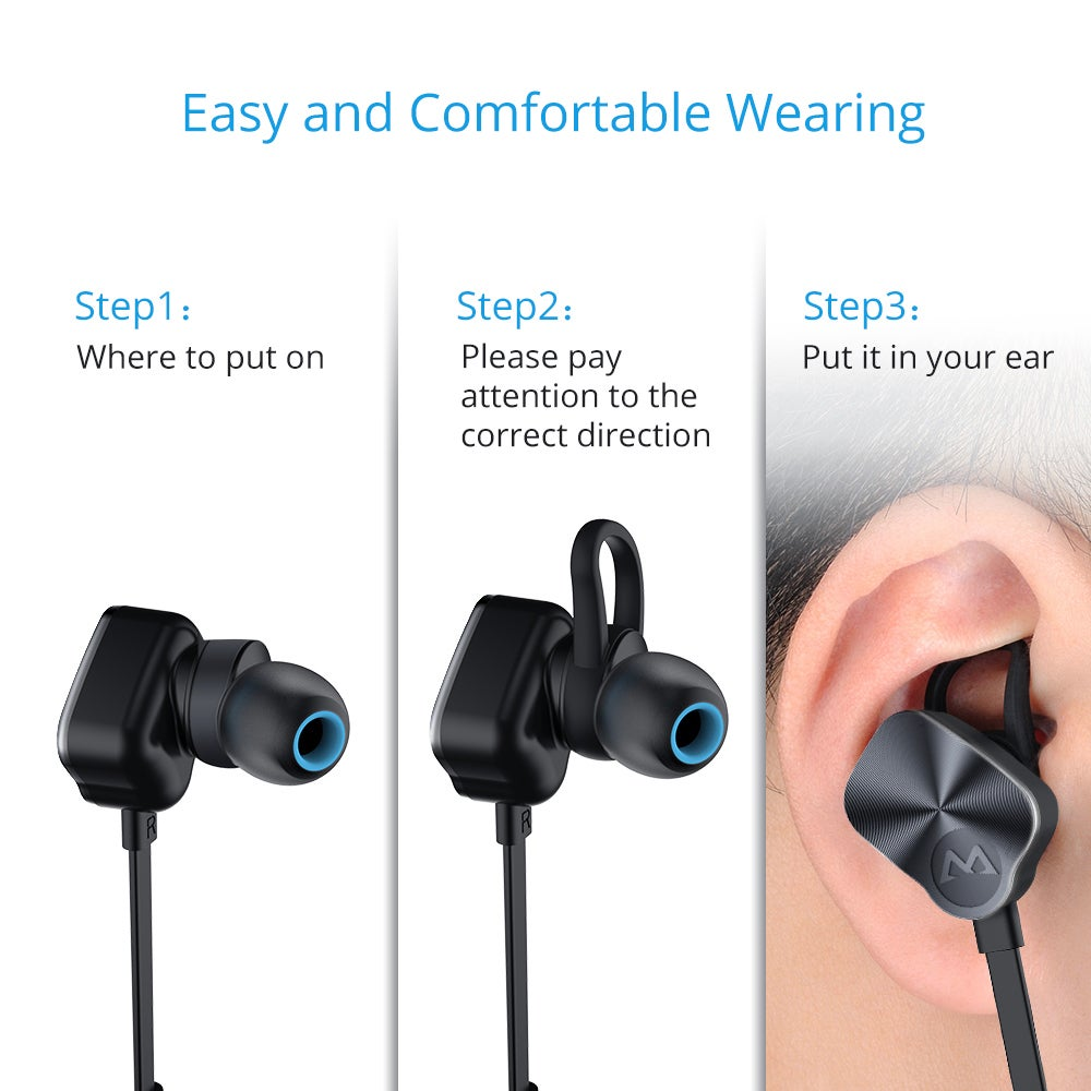 49ad3dd309e Shop Mpow Wolverine Bluetooth 4.1 Wireless Sports Headphones In-ear Running  Jogging Stereo Earbuds Headsets, Silver - On Sale - Free Shipping On Orders  Over ...