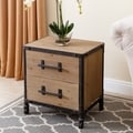 Abbyson Northwood Industrial 2-drawer Nightstand