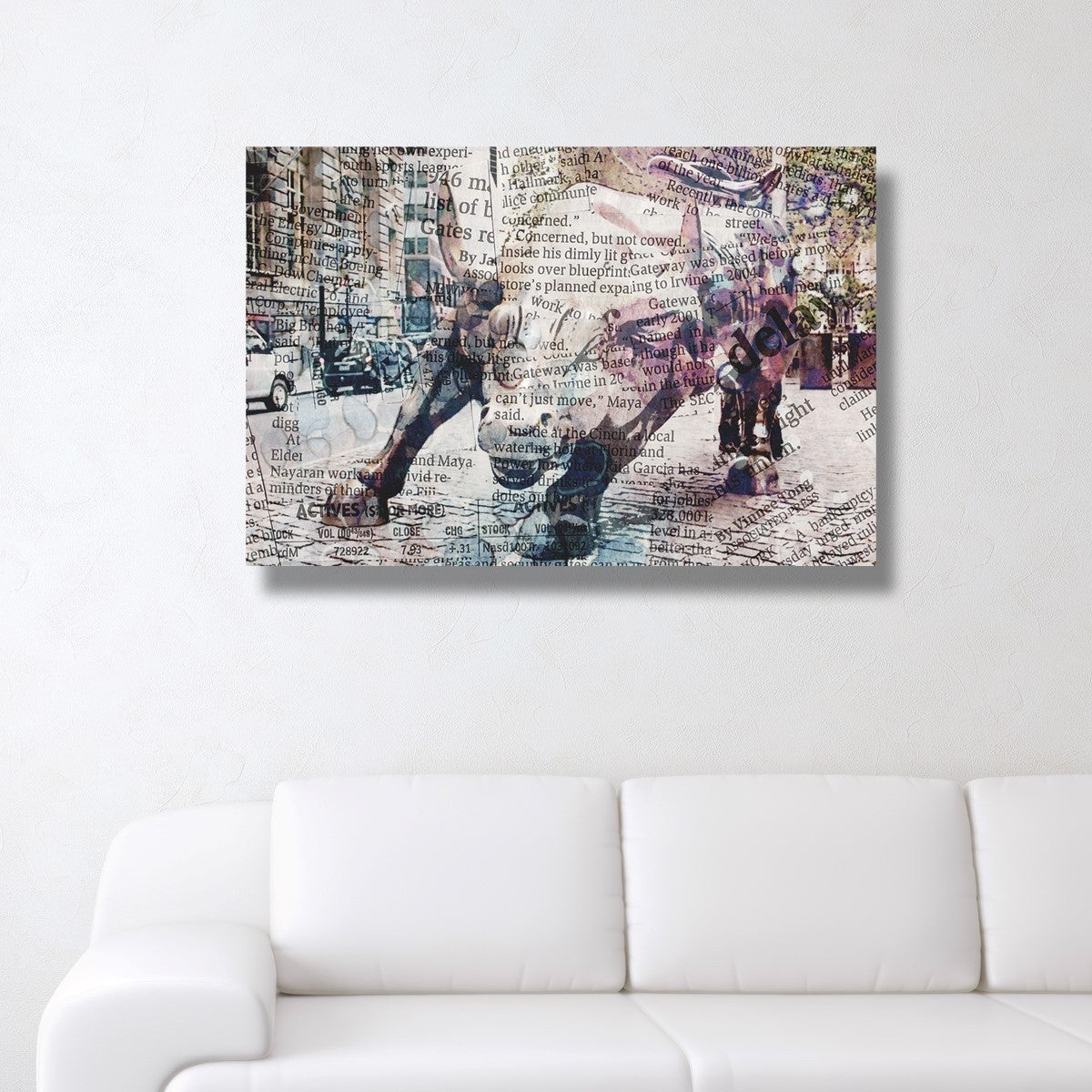 Oliver Gal Wall St Bull Canvas Art Ships To Canada 18461893