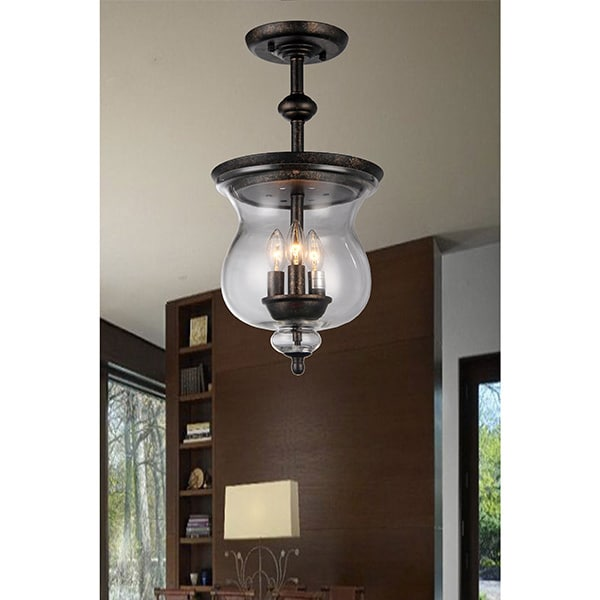 Shop madigan 3 light clear glass 10 inch antique pendant lamp on shop madigan 3 light clear glass 10 inch antique pendant lamp on sale free shipping today overstock 11512121 aloadofball Choice Image