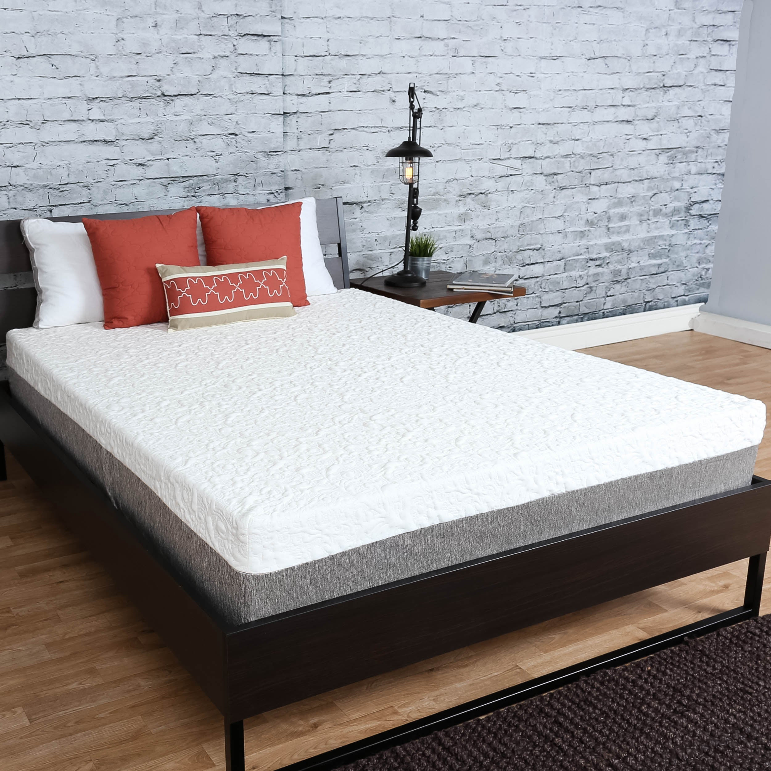 nuform with overstock home today inch free shipping short product mattres pillows bonus size rv garden memory mattress two foam queen