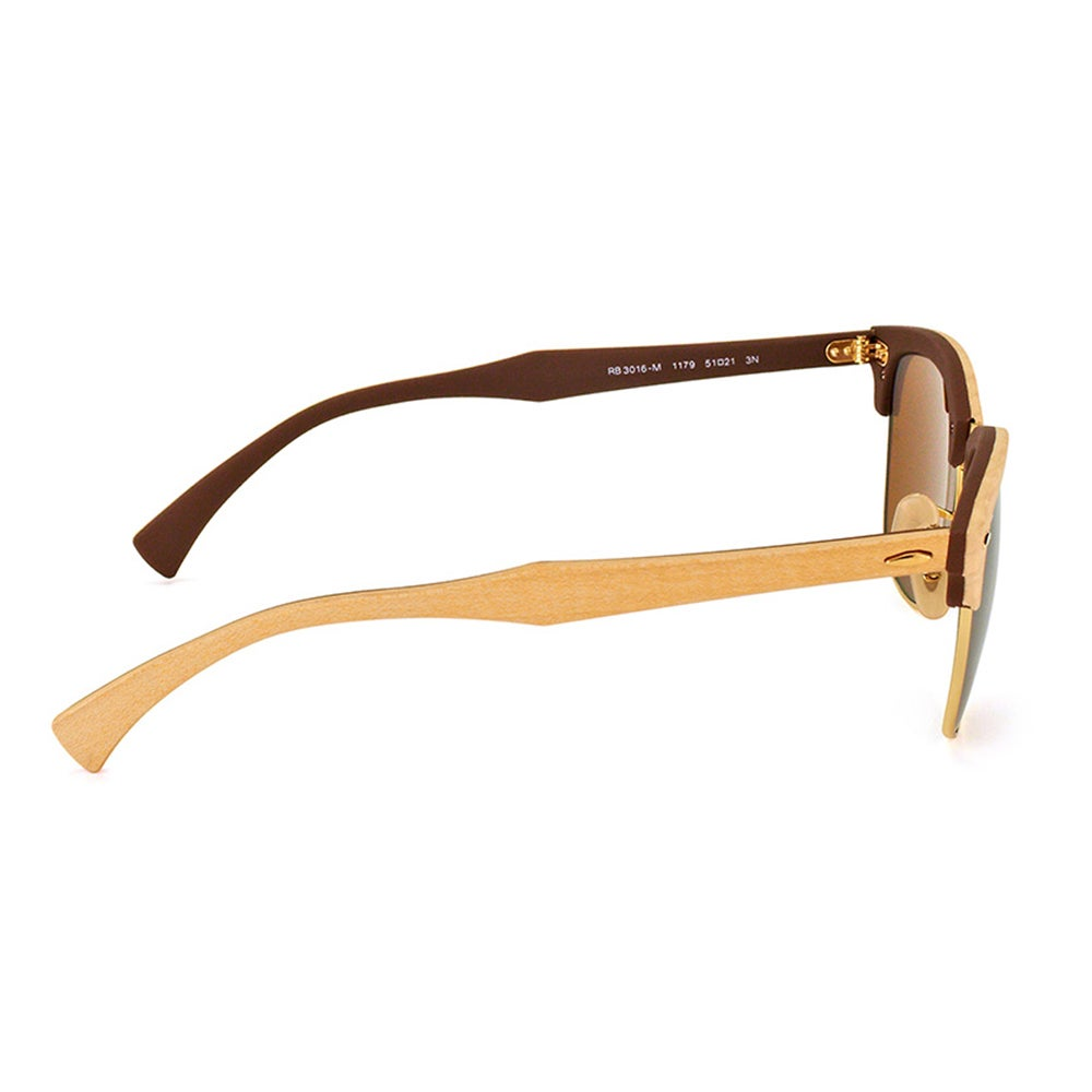 677fbf56527ef Shop Ray-Ban Clubmaster Wood RB 3016M 1179 Maple Clubmaster Plastic 51mm  Sunglasses - Free Shipping Today - Overstock - 11517505
