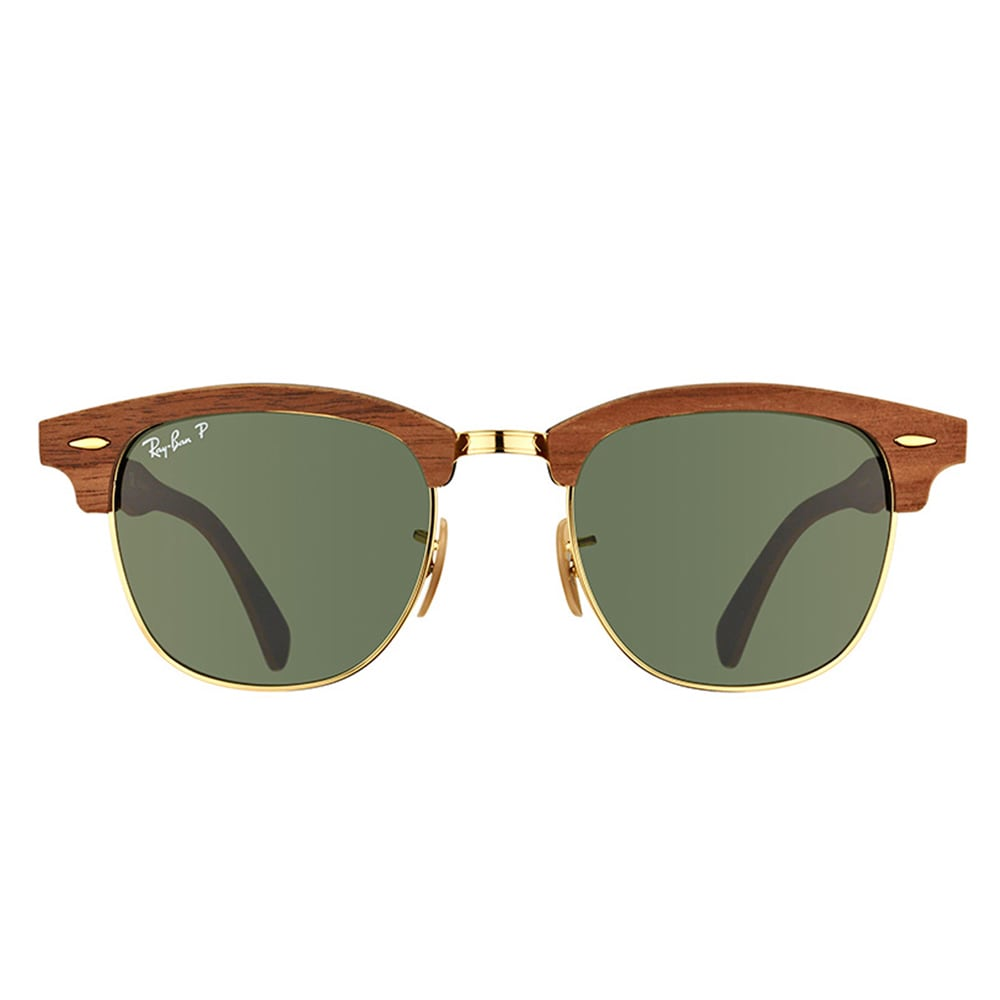 7d12c1d27e Shop Ray-Ban Clubmaster Wood RB 3016M 118158 Walnut Clubmaster Plastic 51mm  Sunglasses - Free Shipping Today - Overstock - 11517513