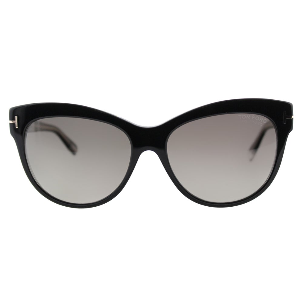 3b853af987 Shop Tom Ford Lily TF 430 05D Black Cat-Eye Plastic Sunglasses - Free  Shipping Today - Overstock - 11517763