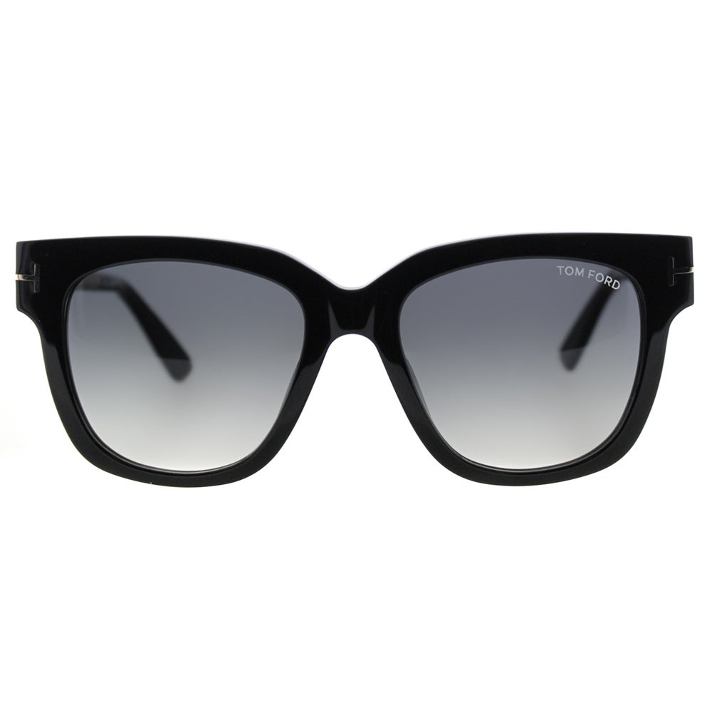 6ec48c598d49 Shop Tom Ford Tracy TF 436 01B Black Square Plastic Sunglasses - Free  Shipping Today - Overstock - 11517881