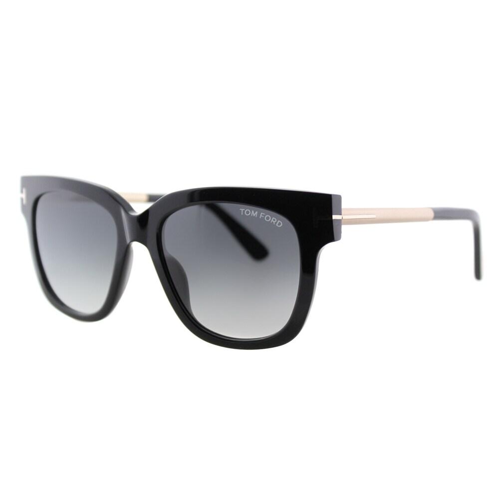 d6982b3916 Shop Tom Ford Tracy TF 436 01B Black Square Plastic Sunglasses ...