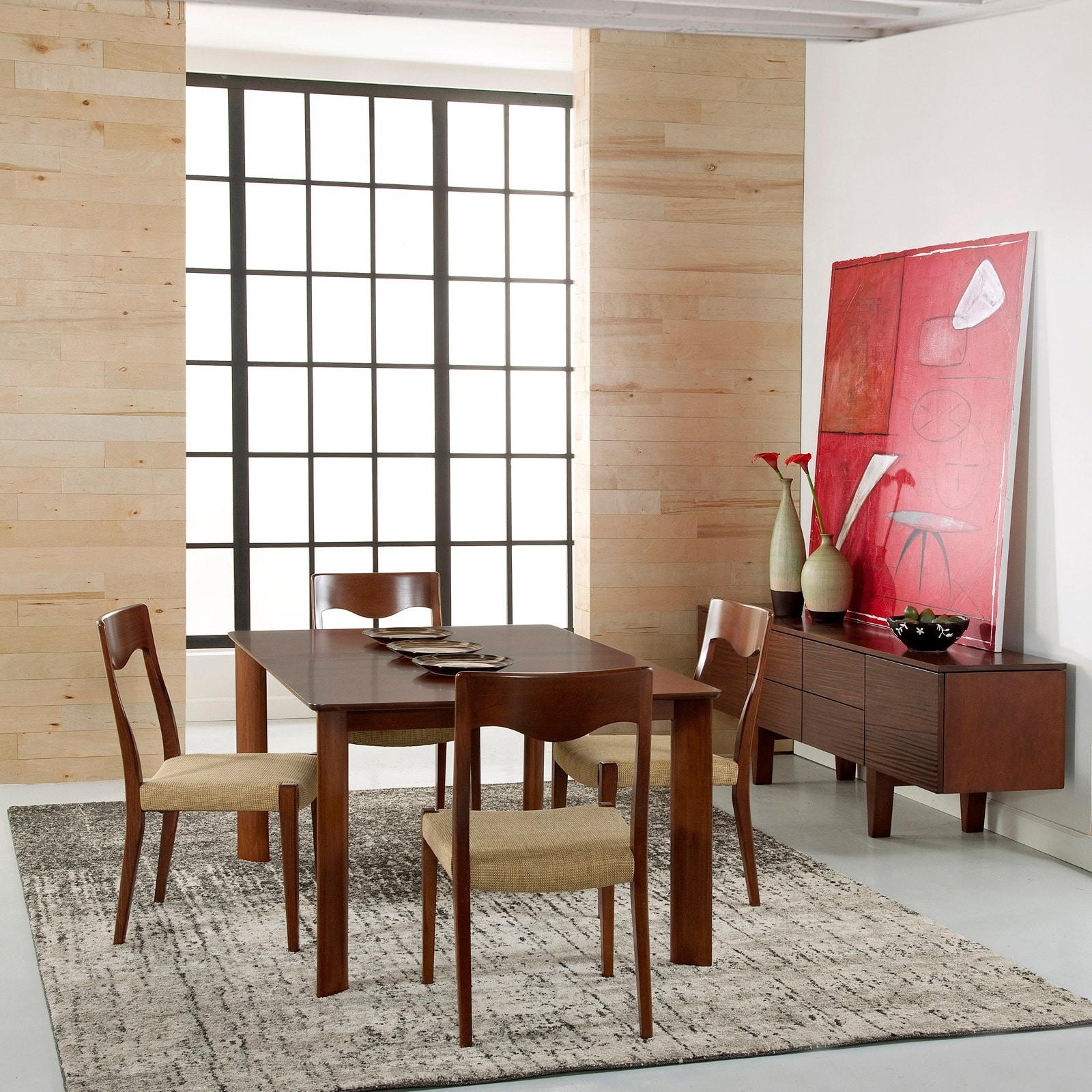 Shop saloom ari 36 x 72 rectangular maple smooth top custom dining table in walnut finish free shipping today overstock com 11518013