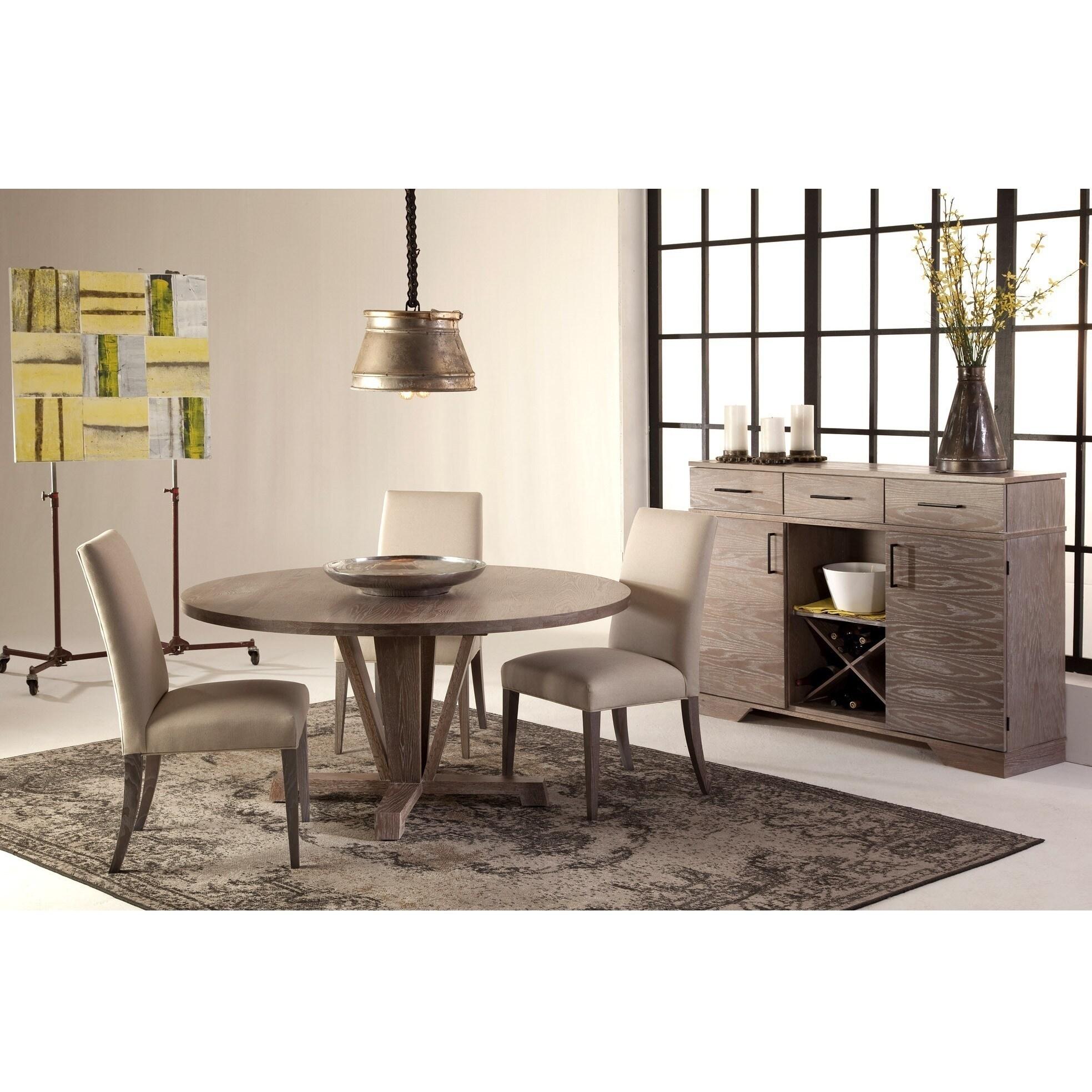 Saloom Boylston 54 Inch Round Cafe Oak Custom Dining Table Free Shipping Today 11518166