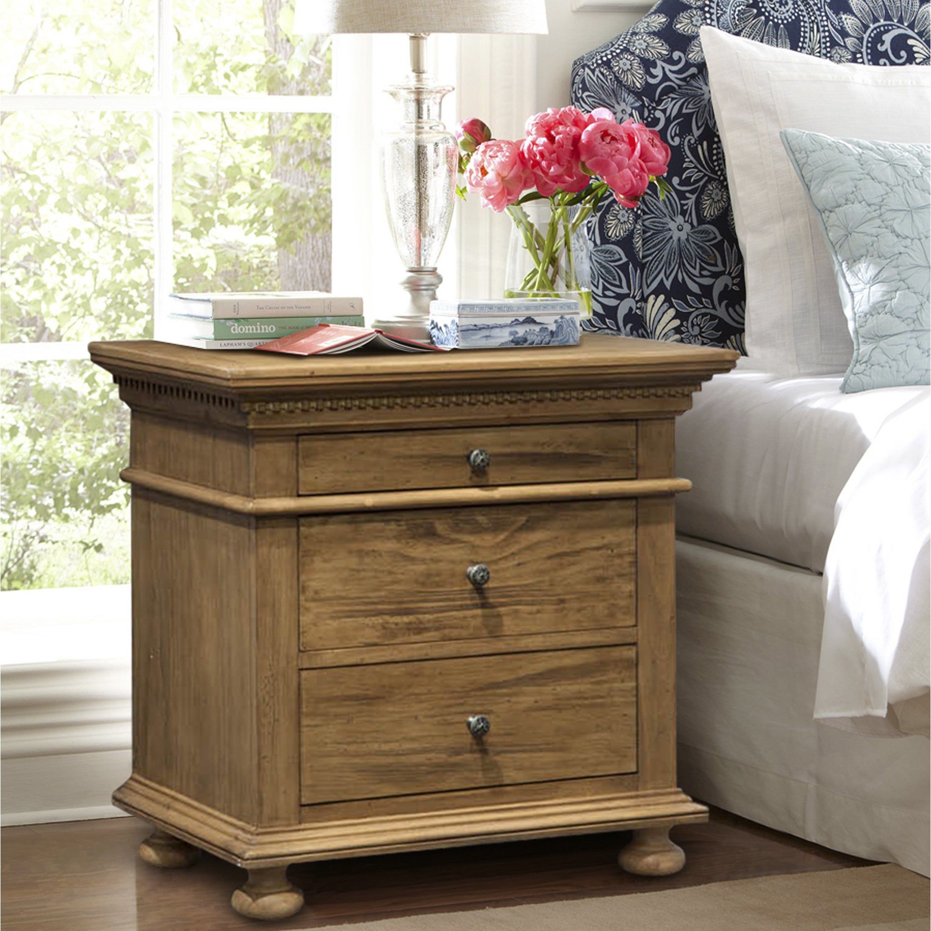 5378f0342988 Shop Addington Hill 3 Drawer Night Stand - On Sale - Free Shipping ...