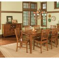 Arts and Crafts 7-piece Rectangular Dining Set by Home Styles