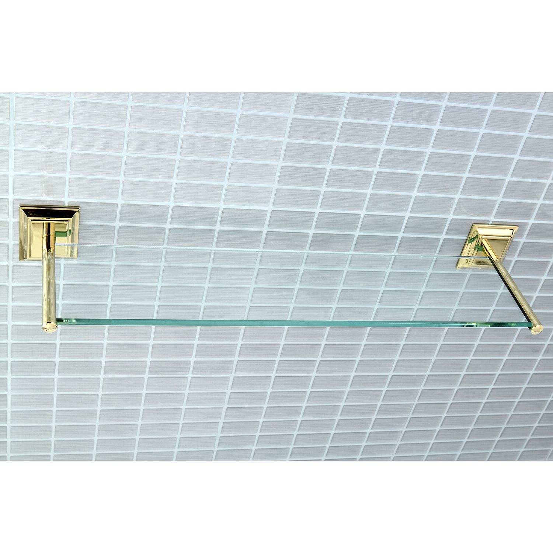 Polished Nickel Bathroom Glass Shelf - Free Shipping Today ...