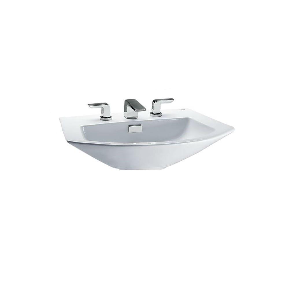 Toto Soiree Pedestal Bathroom Sink LT962.8#01 Cotton White - Free ...