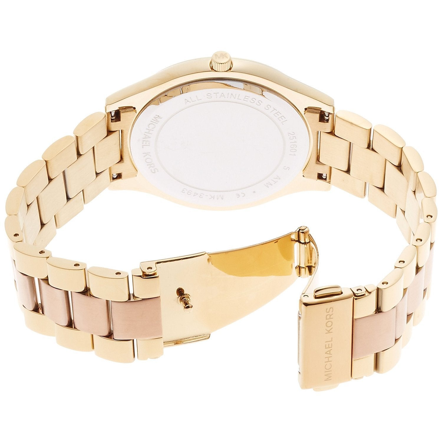 15a4a183704b Shop Michael Kors Women s MK3493 Slim Runway Rose-Tone Dial Two-Tone  Stainless Steel Bracelet Watch - Free Shipping Today - Overstock - 11520018