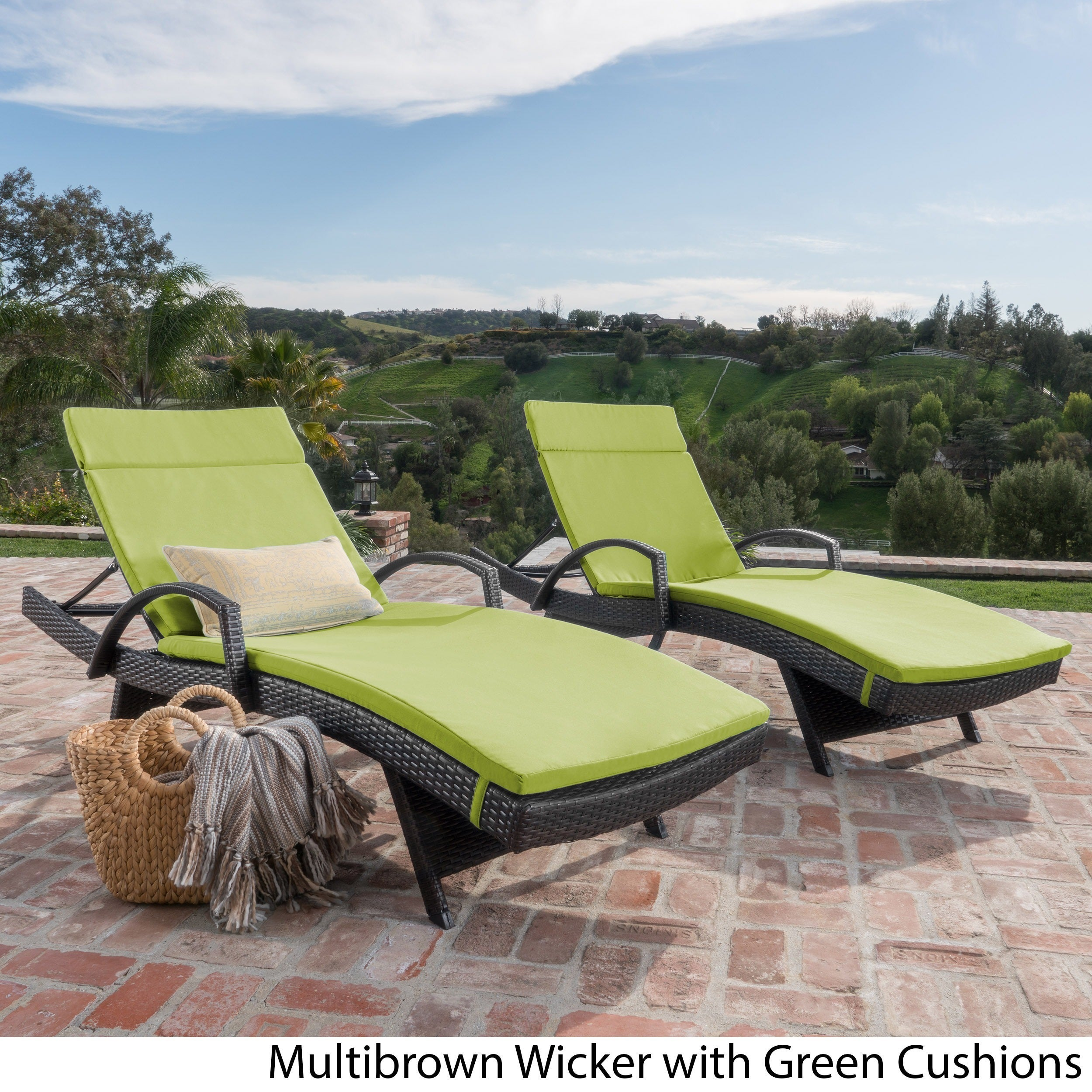 green lounge chaise source raw wave outdoor so