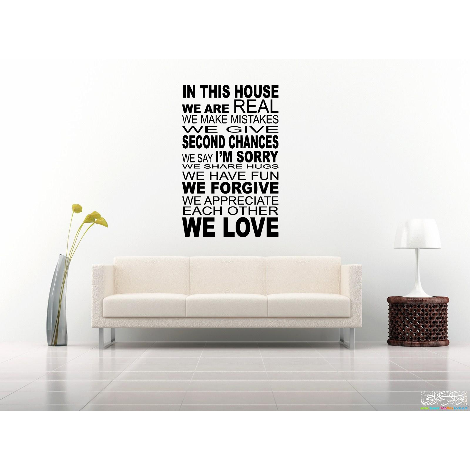 Shop In This House We Have Fun Quote Wall Art Sticker Decal Free