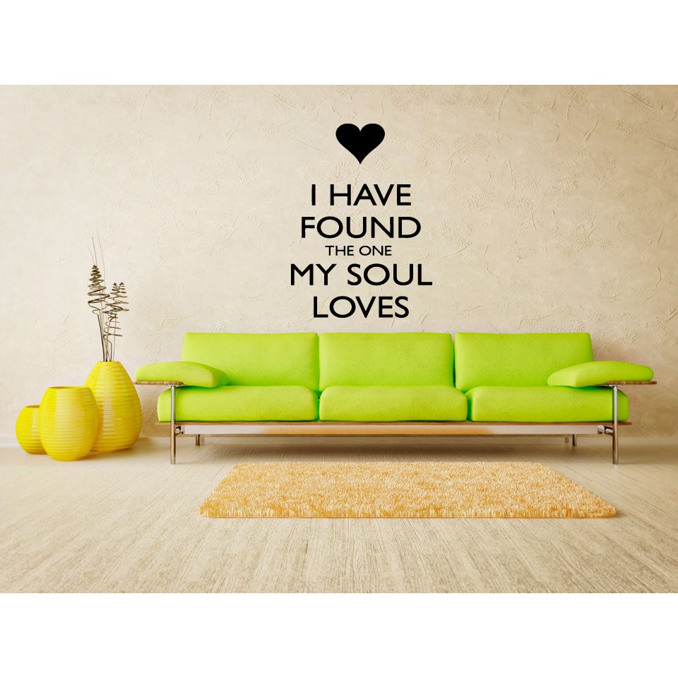Shop I Have Found The One My Soul Loves A heart Wall Art Sticker ...