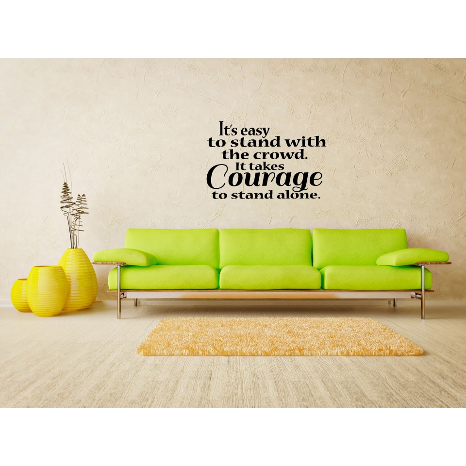 Shop Statement Courage to Stand Alone Wall Art Sticker Decal - Free ...