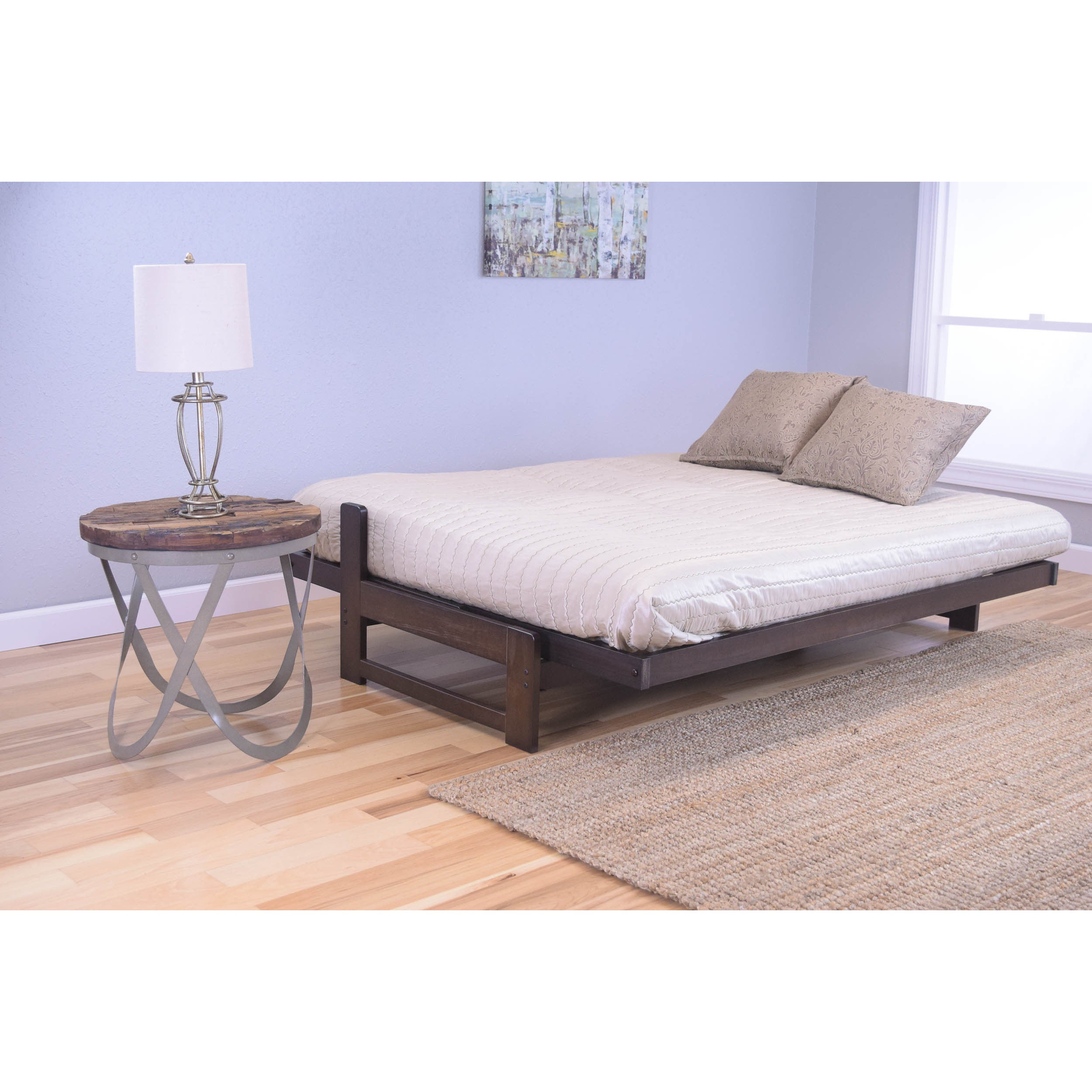 Pine Canopy Uncompahgre Rustic Mocha Futon Frame With Mattress Free Shipping Today Com 11526380