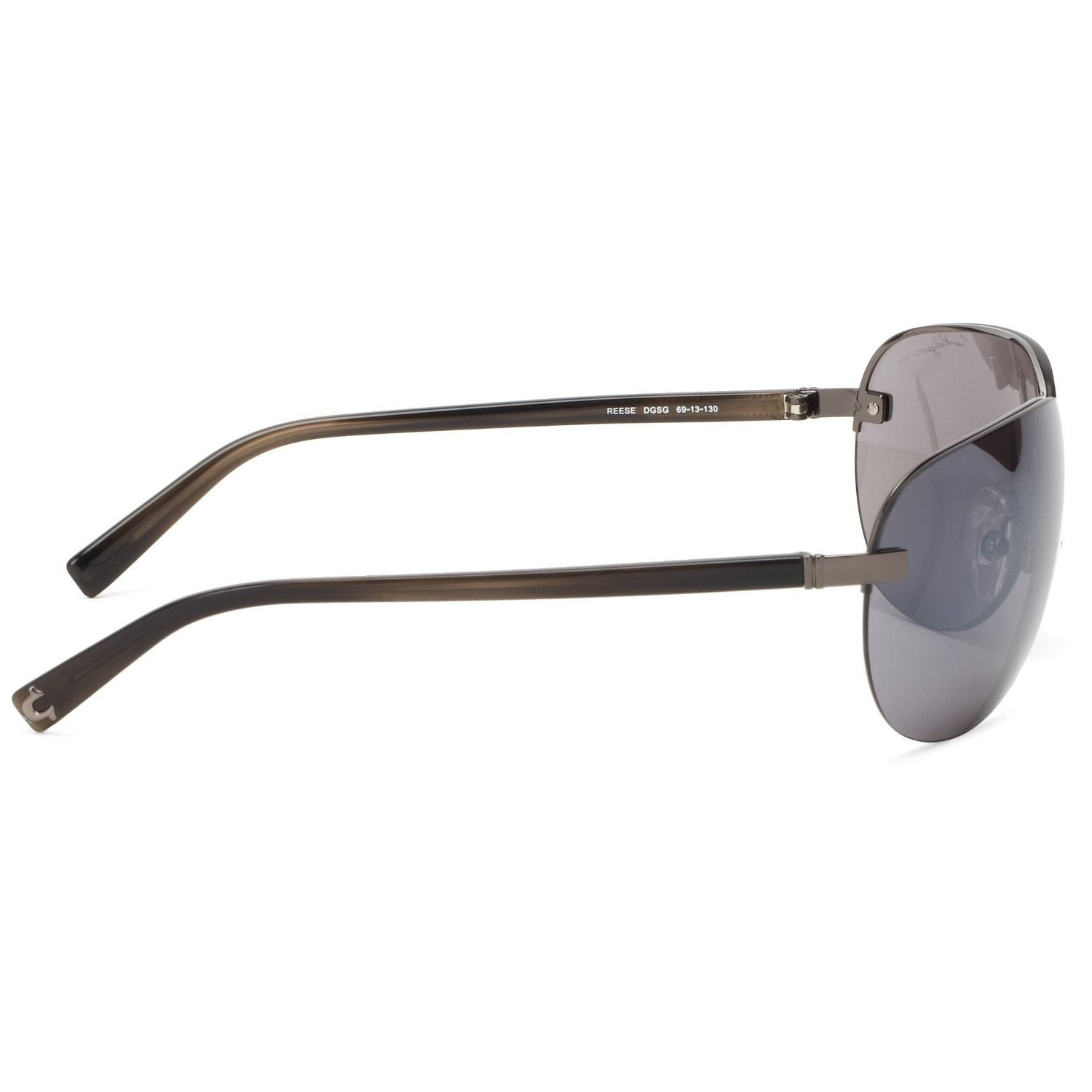 Shop True Religion Reese Dark Grey and Soft Gun Sunglasses - Ships ...