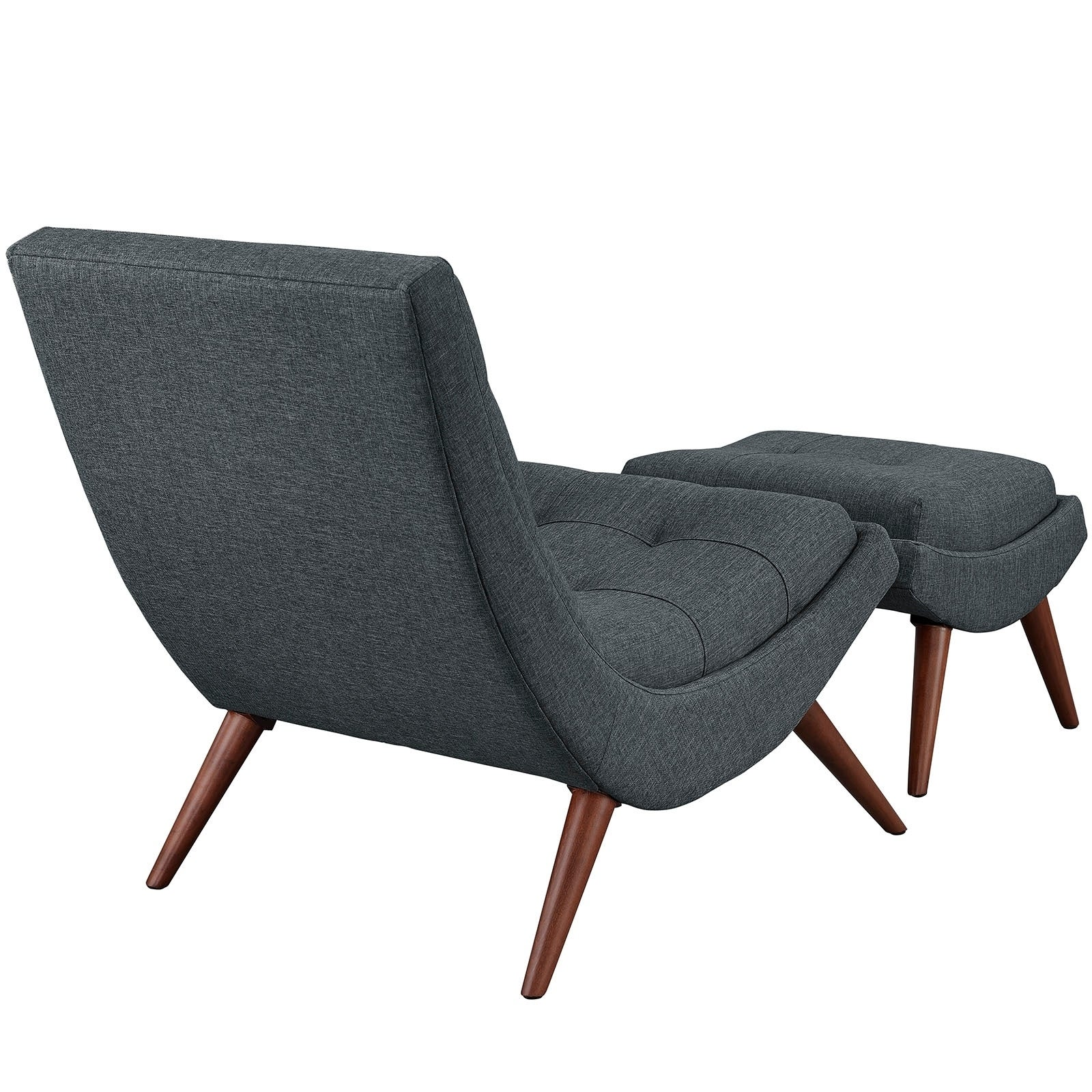 Ramp Mid Century Fabric Lounge Chair Set  Free Shipping