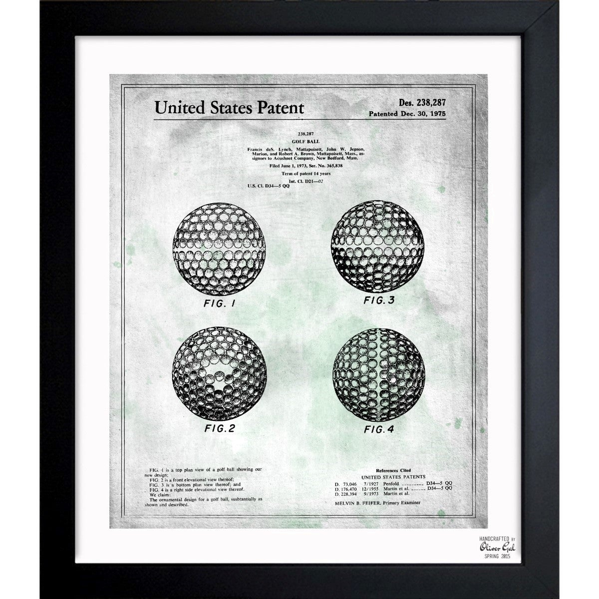 Shop oliver gal golf ball 1975 framed blueprint art free shop oliver gal golf ball 1975 framed blueprint art free shipping today overstock 11533238 malvernweather Image collections