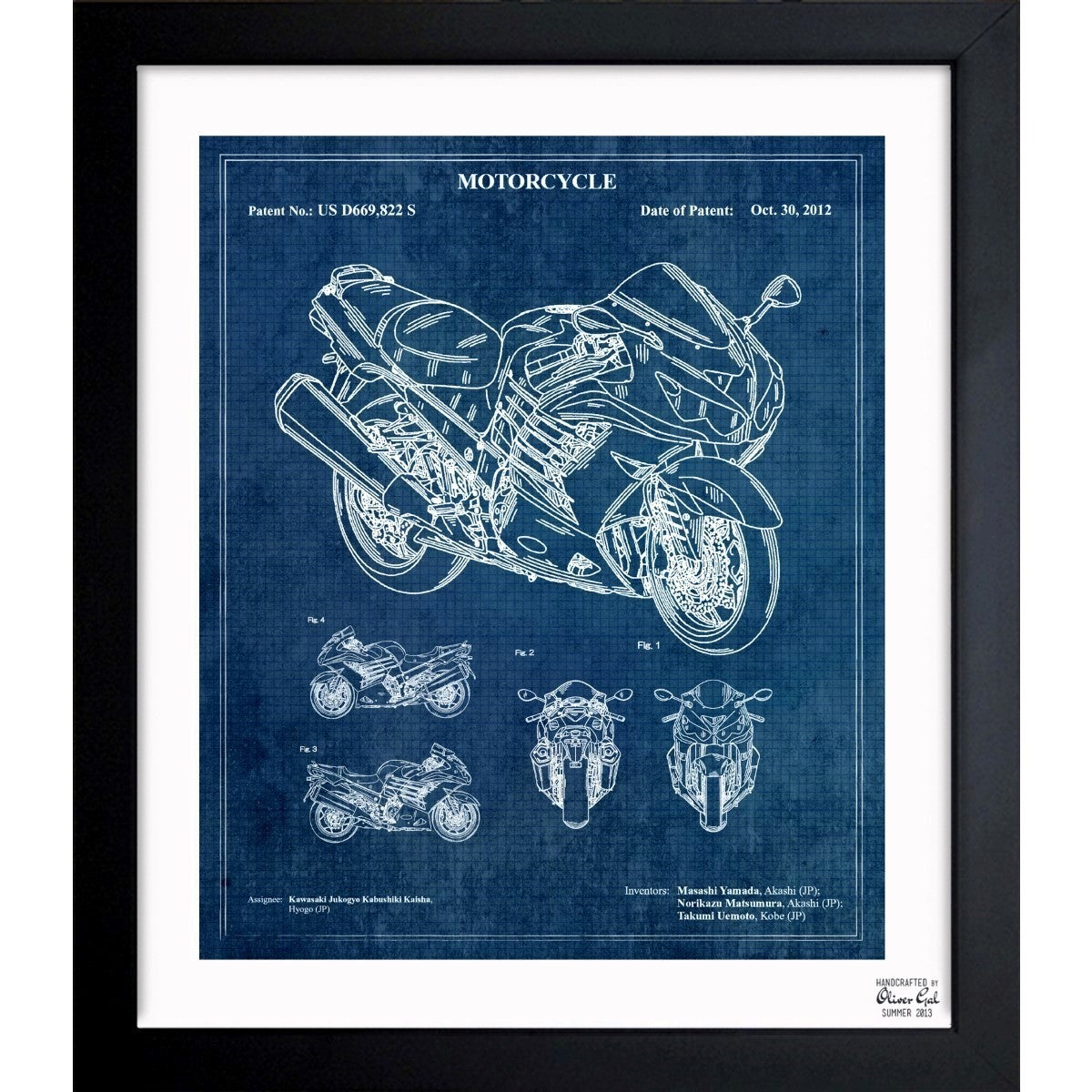 Oliver gal motorcycle 2012 framed blueprint art free shipping oliver gal motorcycle 2012 framed blueprint art free shipping today overstock 18480634 malvernweather Gallery