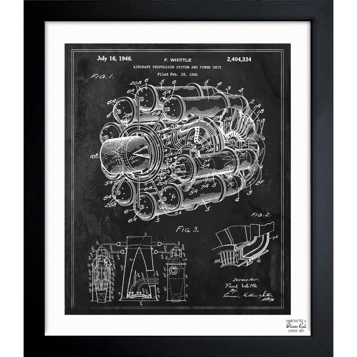 Oliver gal aircraft jet engine 1946 framed blueprint art free oliver gal aircraft jet engine 1946 framed blueprint art free shipping today overstock 18481179 malvernweather Image collections
