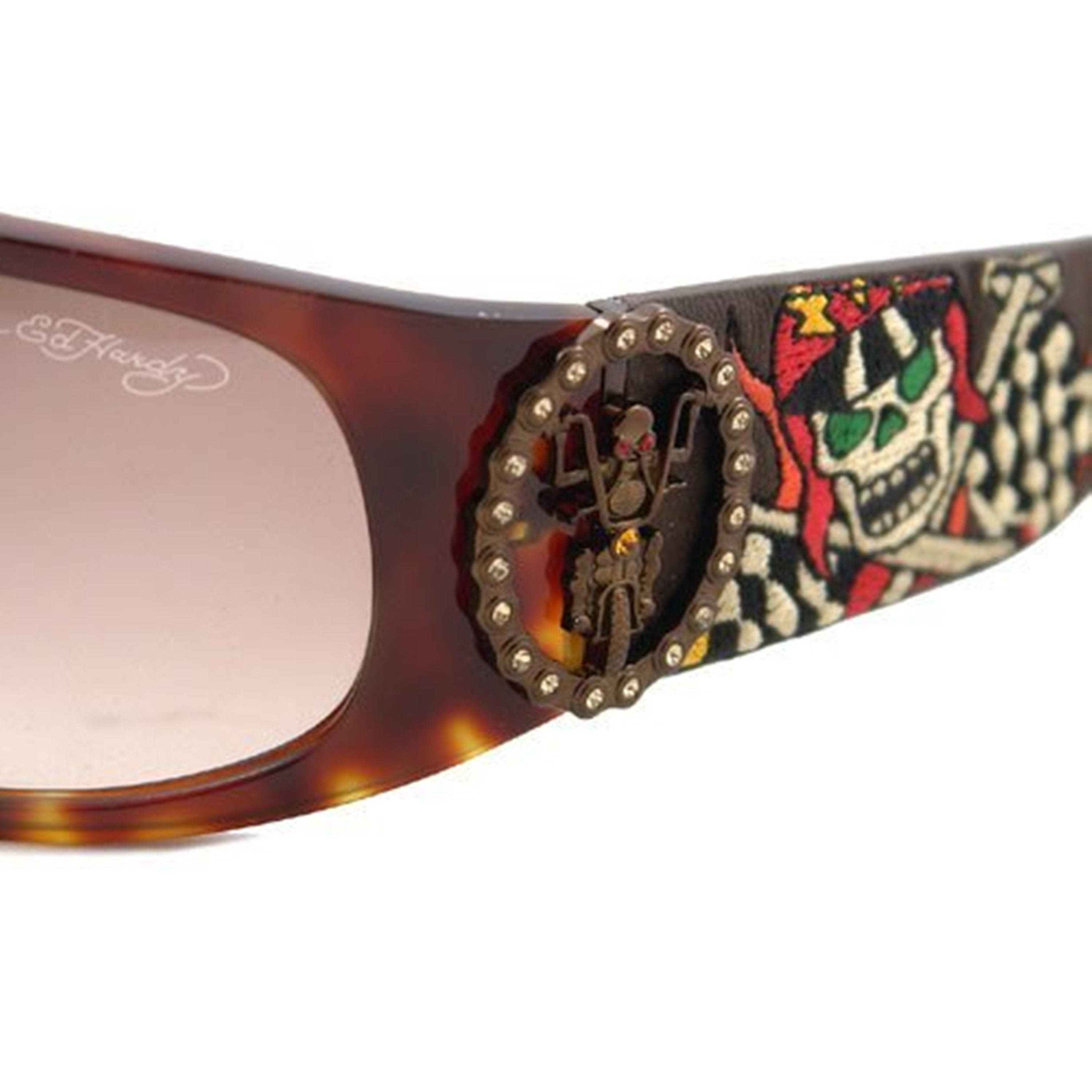 8ac7fc1f891 Shop Ed Hardy Live To Ride Ehs-044 Tortoise Brown Gradient Sunglasses -  Free Shipping Today - Overstock.com - 11534680