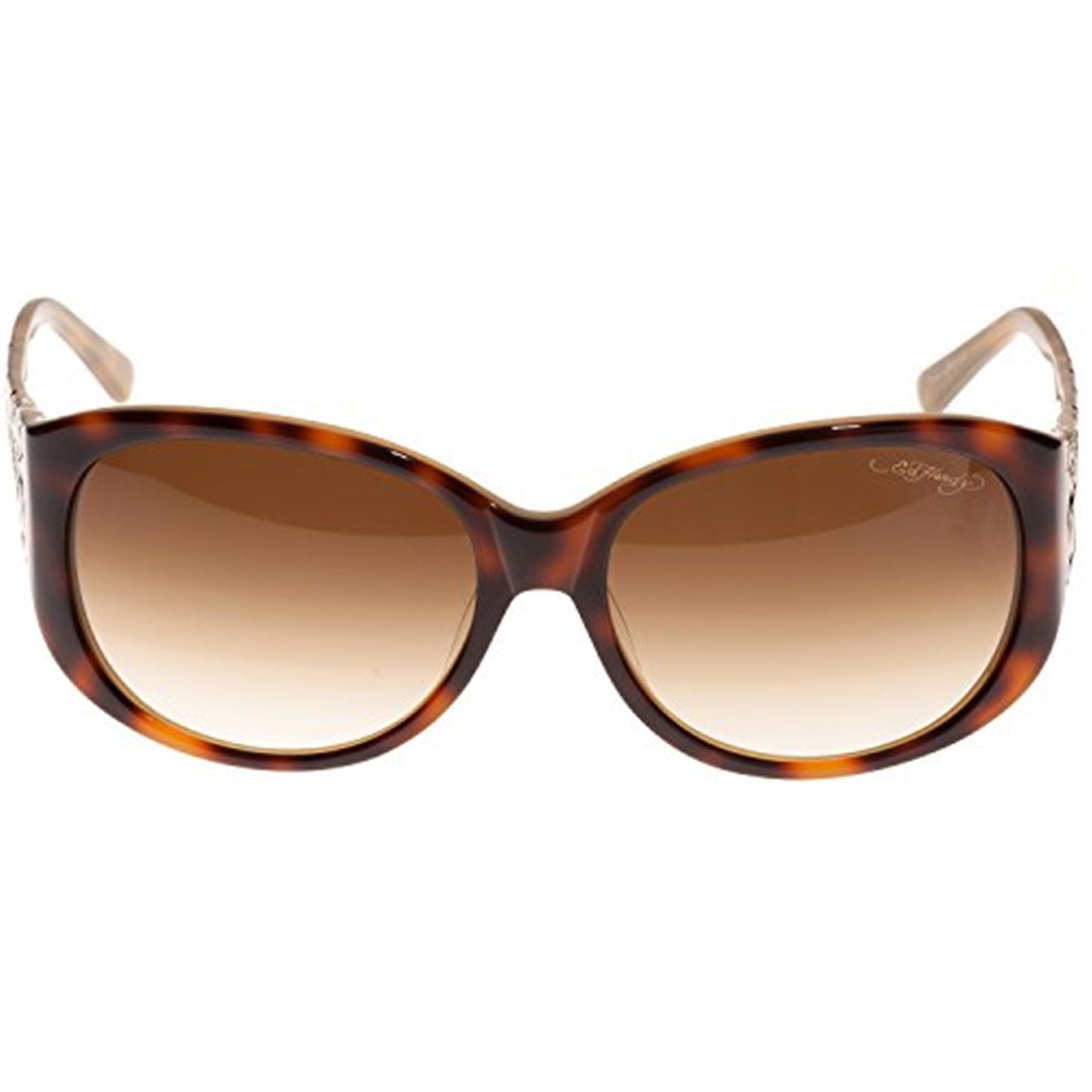 10c063890c Shop Ed Hardy Big Dragon Tortoise Brown Brown Gradient 58 16 135 Sunglasses  - Free Shipping Today - Overstock.com - 11534689