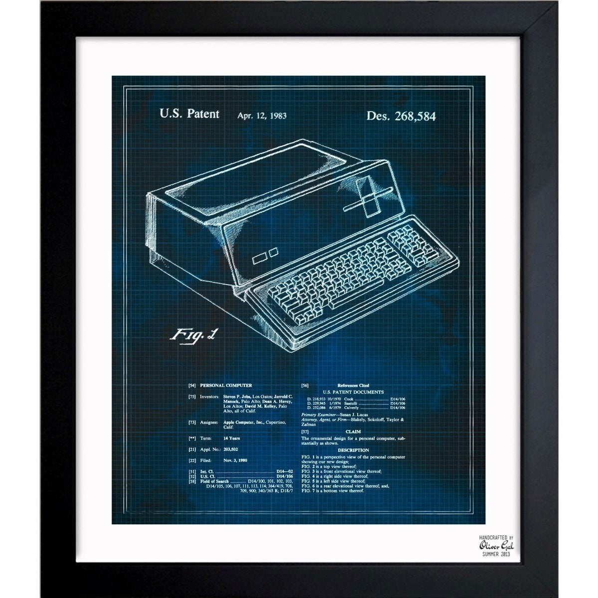 Shop oliver gal first apple personal computer 1983 framed shop oliver gal first apple personal computer 1983 framed blueprint art free shipping today overstock 11534832 malvernweather Images