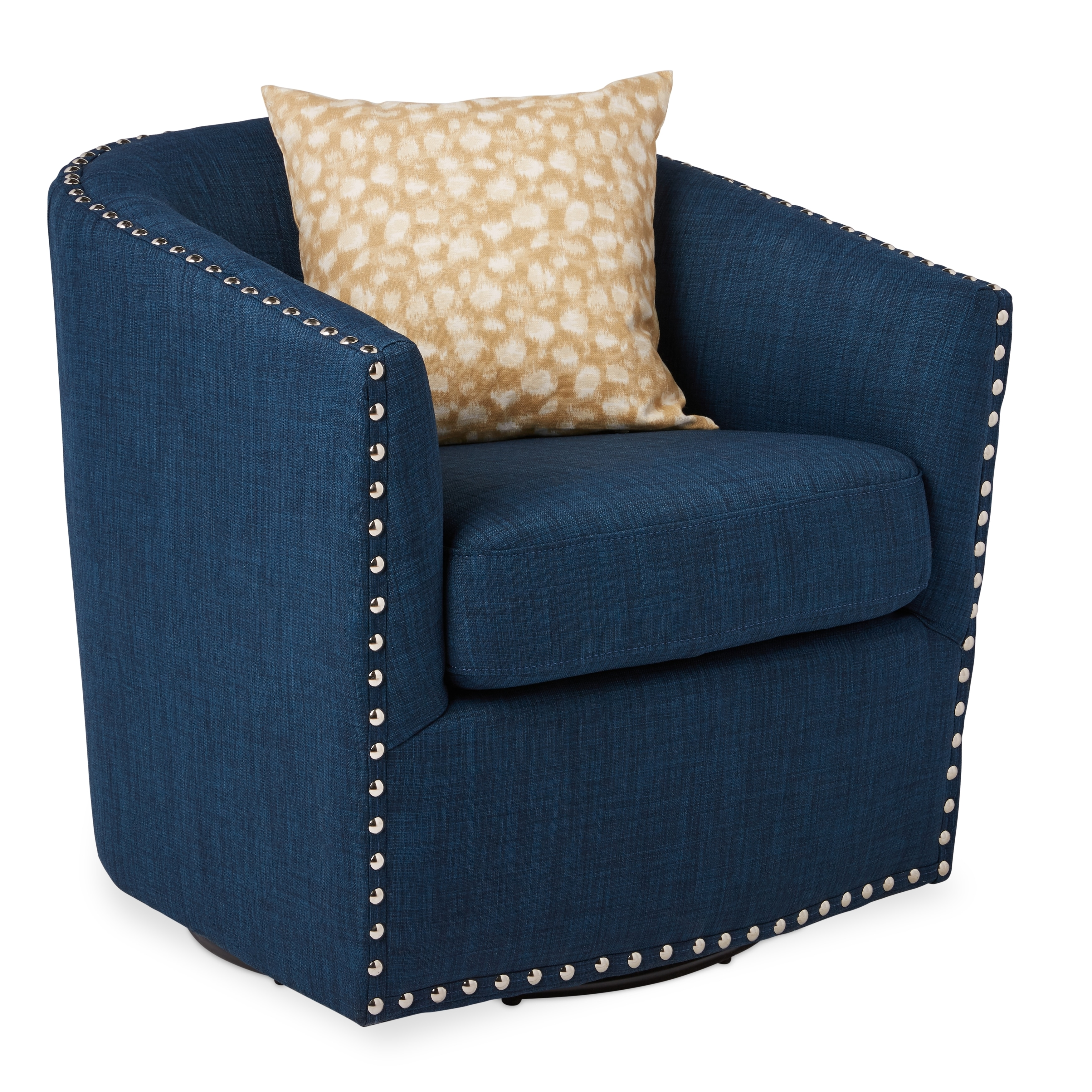 Jasper Laine Tyler Roma Navy Swivel Chair Free Shipping Today 11535326